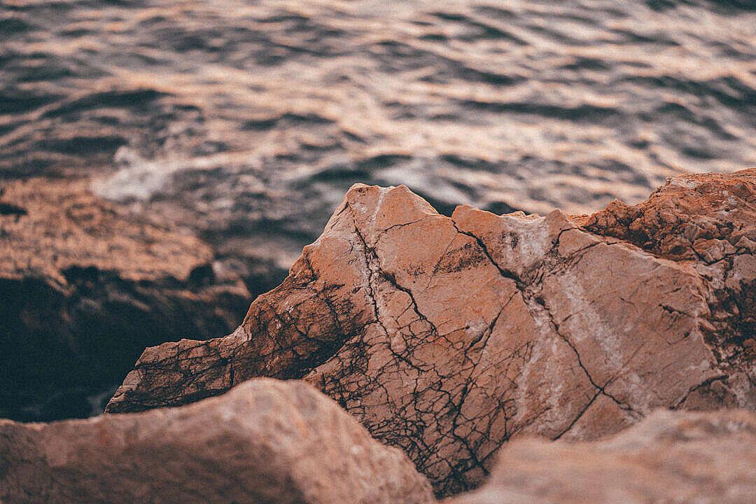 Download Rocky Sea Coast in Croatia in the Early Evening FREE Stock Photo