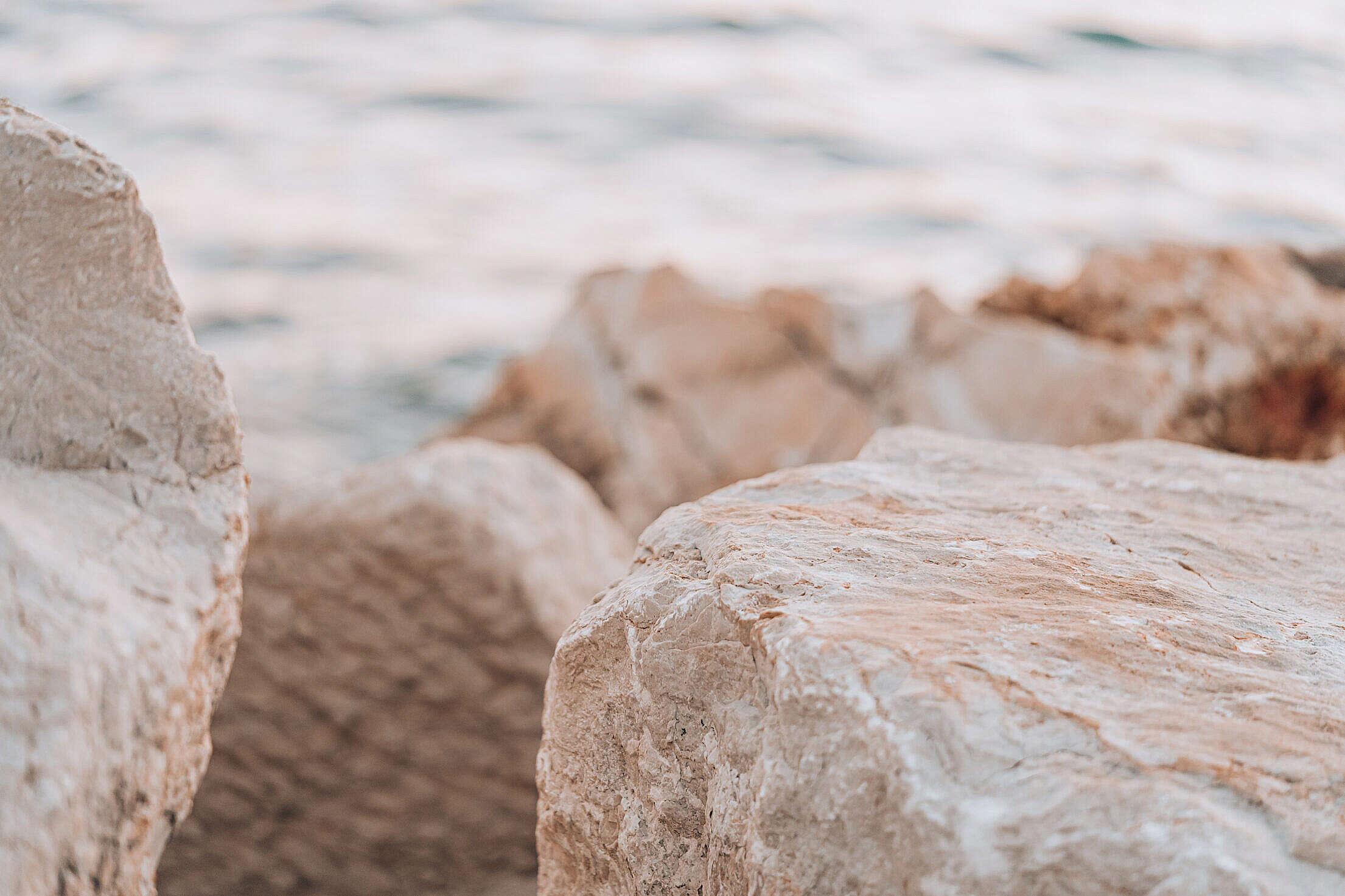 Rocky Shore by The Sea in Croatia Free Stock Photo