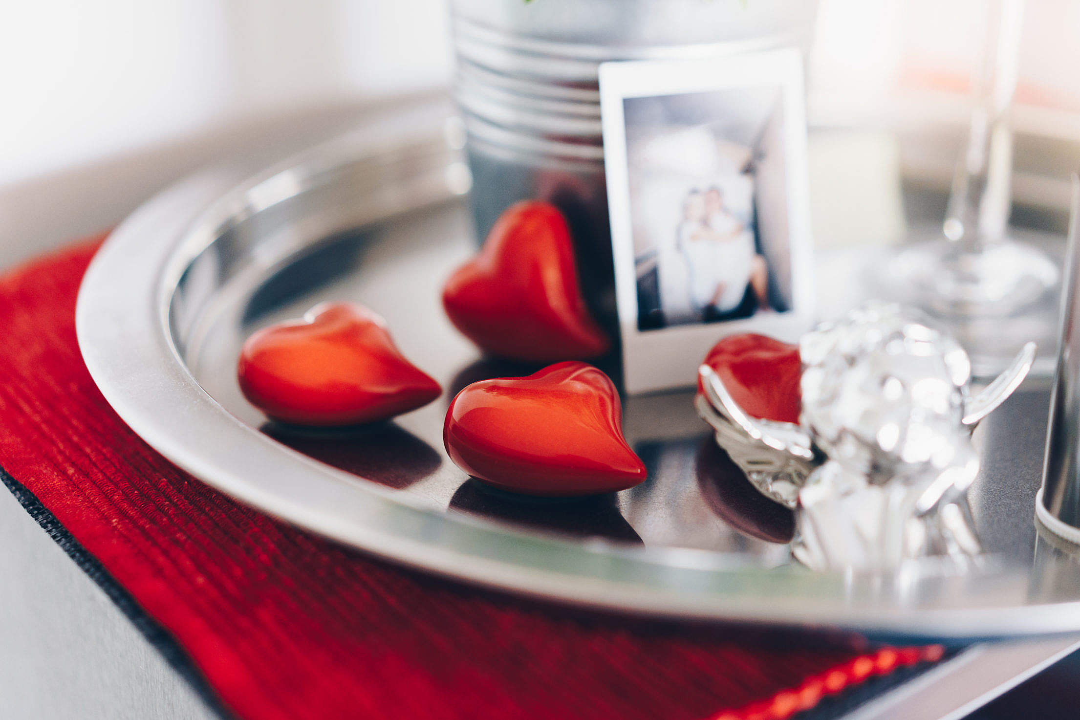 Download Romantic Love Decorations at Home Free Stock Photo
