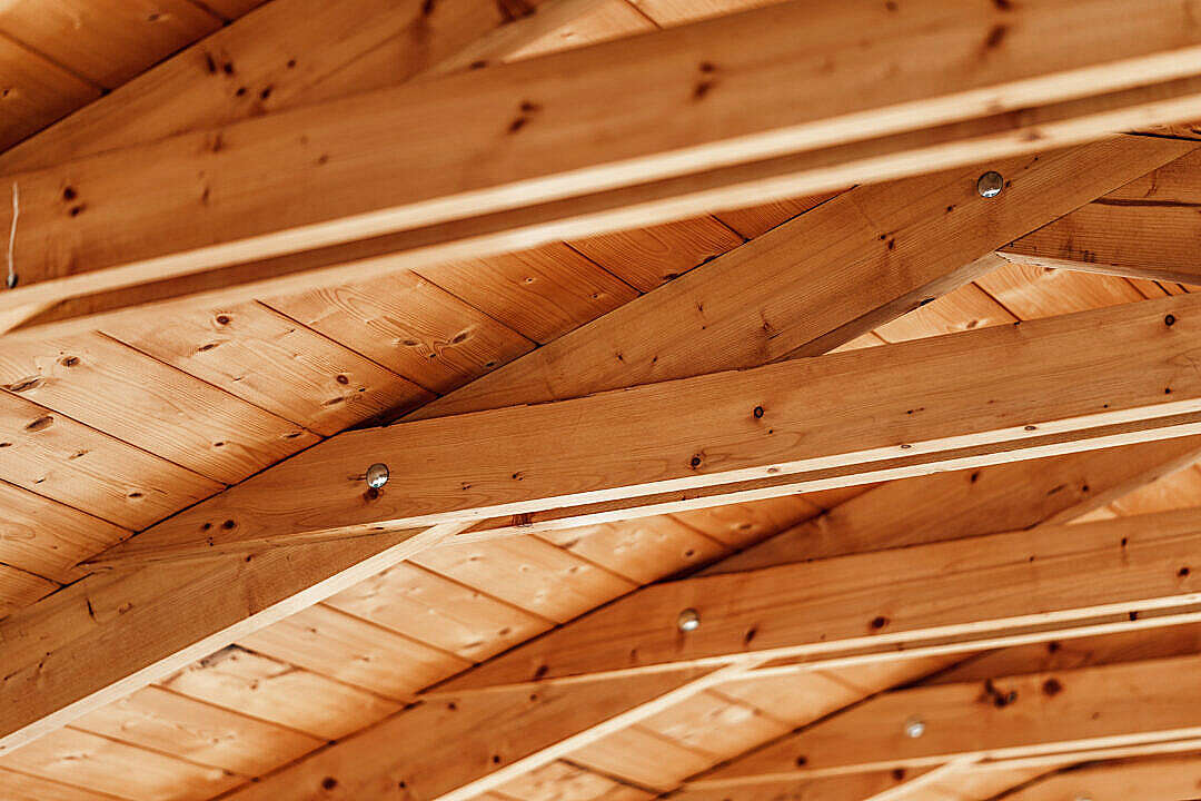 Download Roof Beams FREE Stock Photo