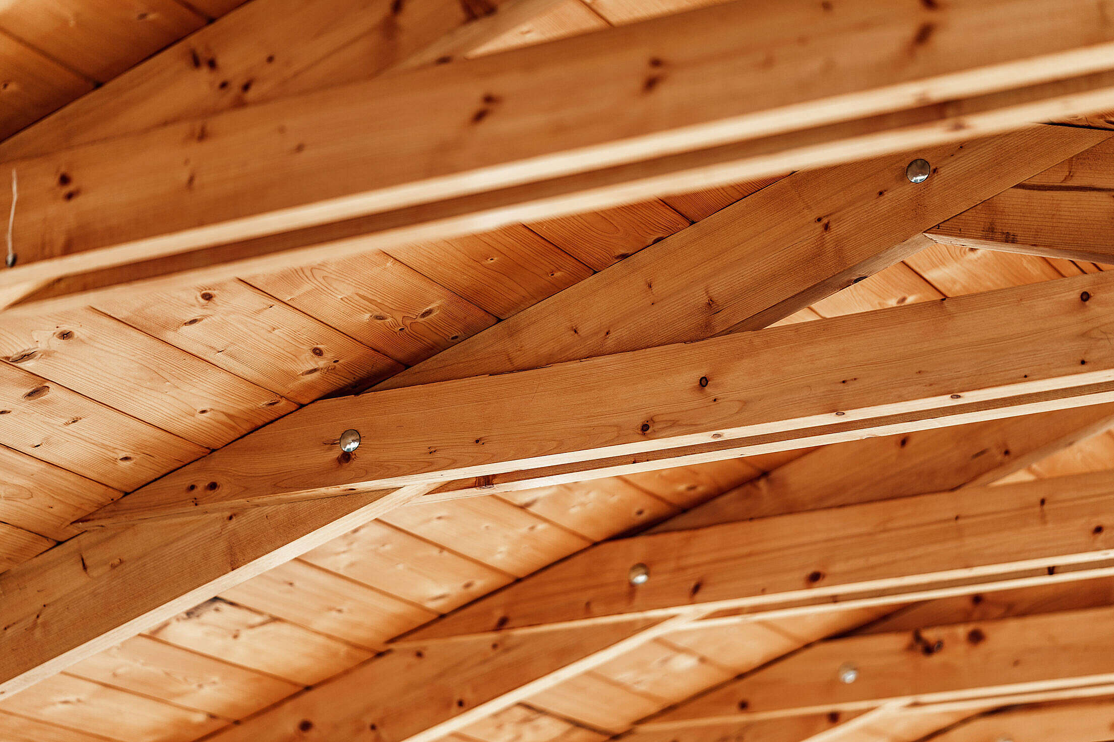 Roof Beams Free Stock Photo