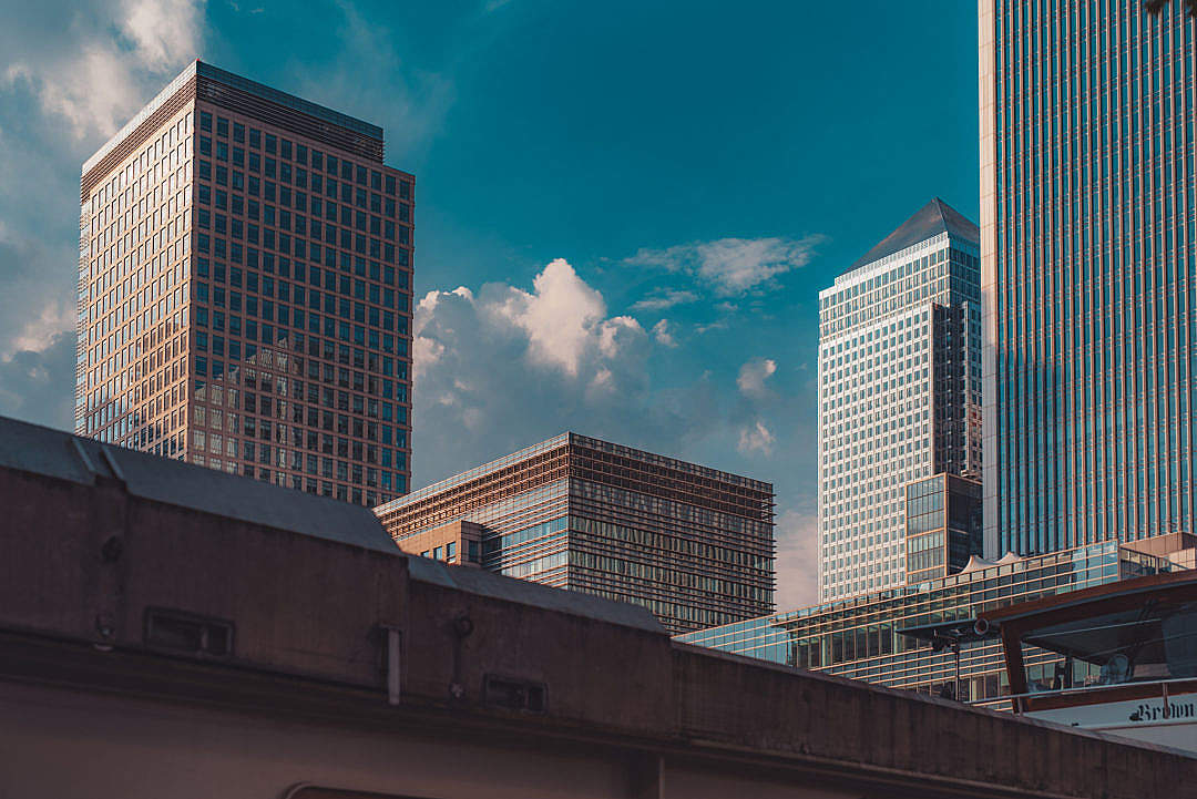 Download Roofs of London Canary Wharf Business and Banking Centre FREE Stock Photo