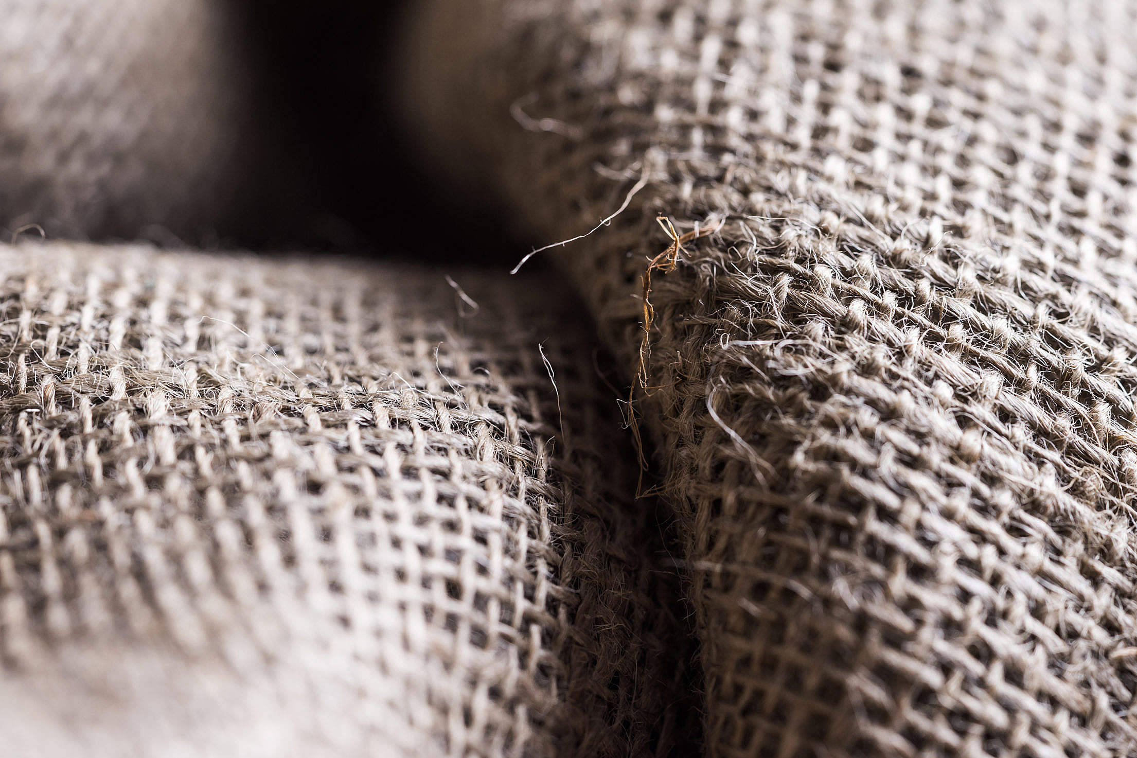 Sackcloth Close Up Free Stock Photo