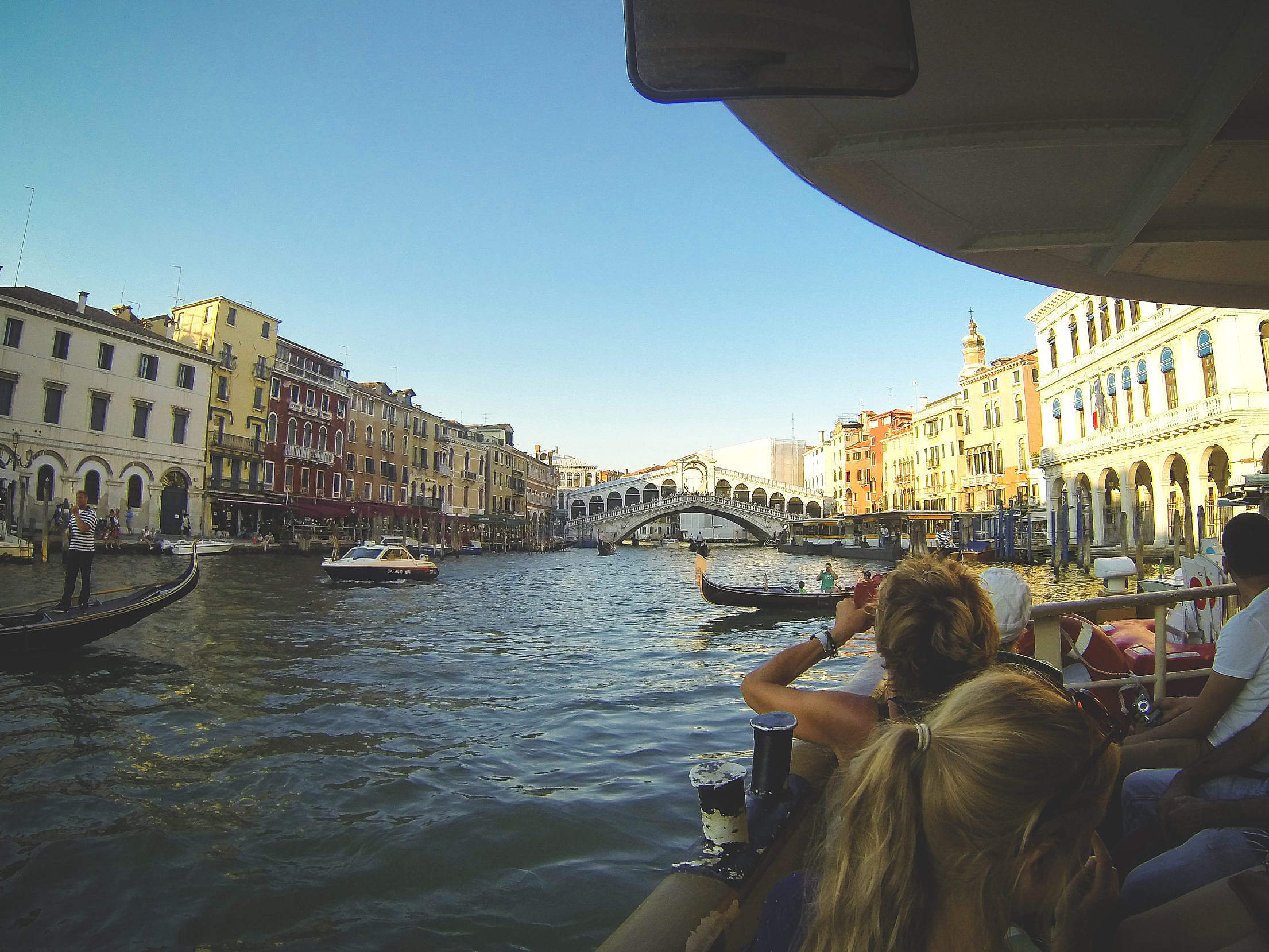 Sailing On Canal Grande In Venice, Italy Free Stock Photo