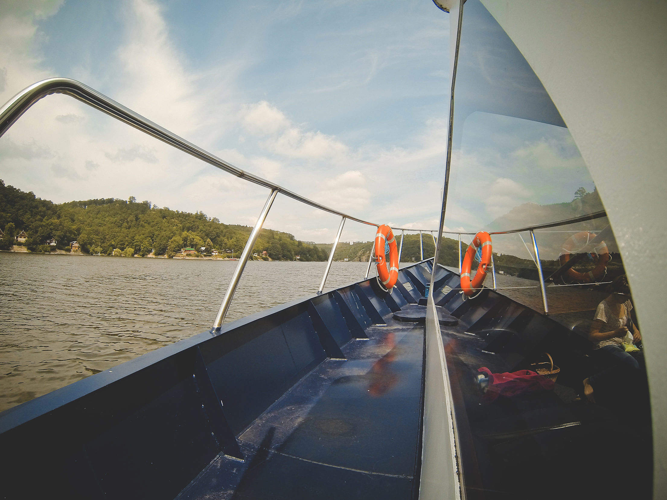 Sailing On The River Free Stock Photo