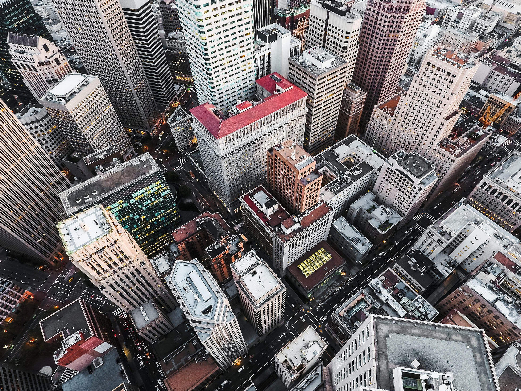 San Francisco Financial District Skyscrapers Free Stock Photo