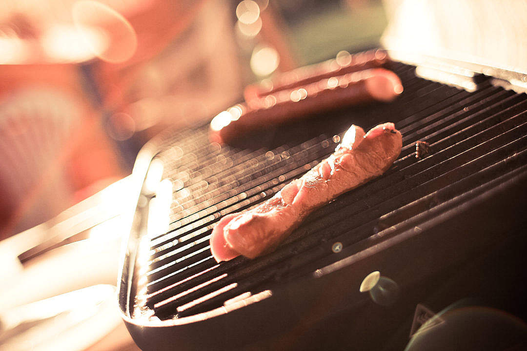 Download Sausages on a Grill FREE Stock Photo
