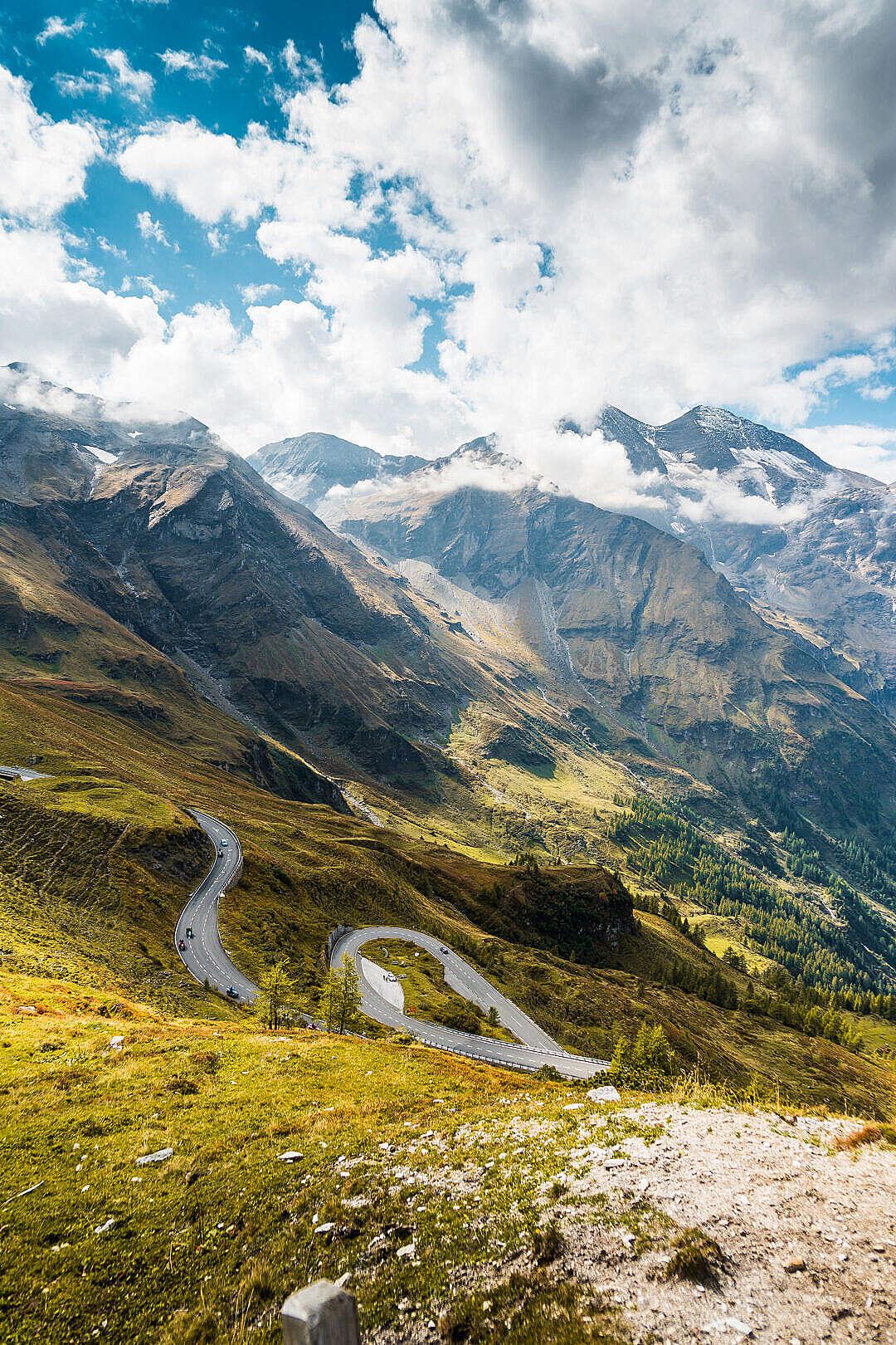 Download Scenery Around Grossglockner High Alpine Road FREE Stock Photo