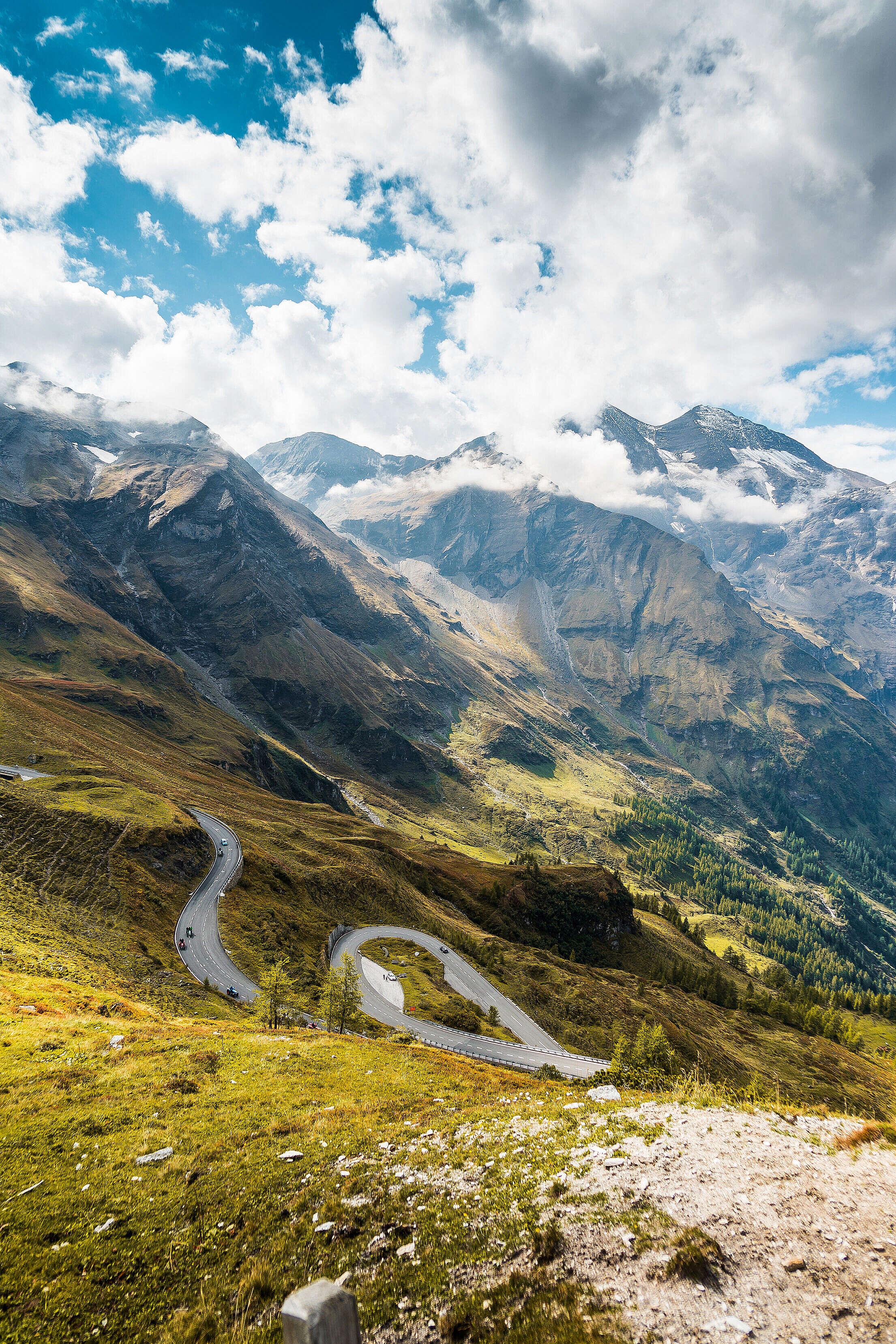 Scenery Around Grossglockner High Alpine Road Free Stock Photo