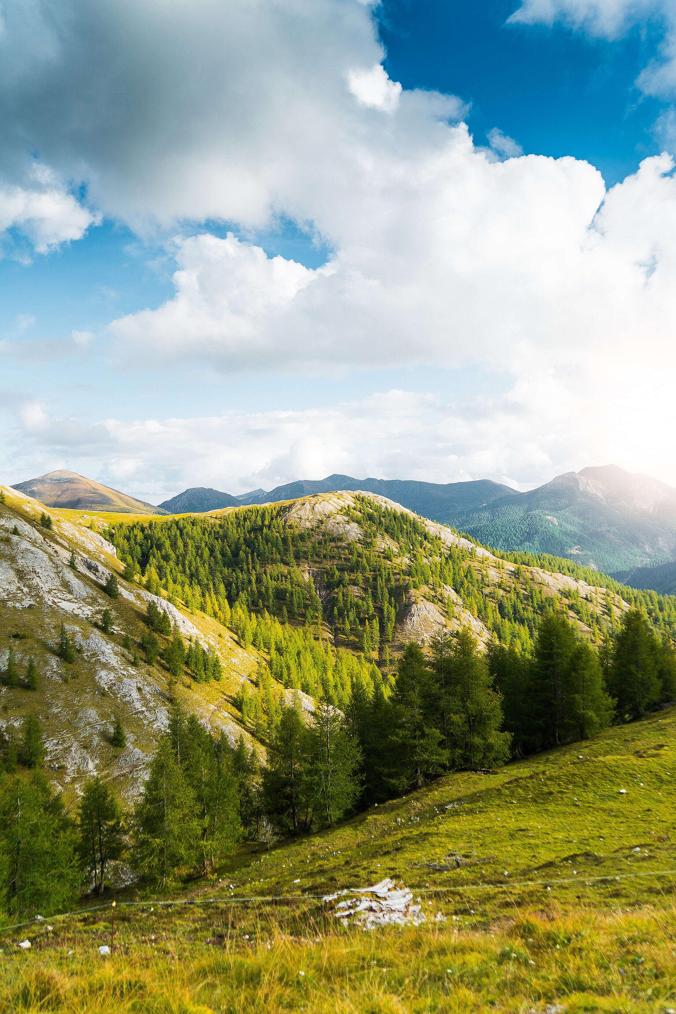 Scenery Around Nockalm Mountain Road Alpine Pass Free Stock Photo