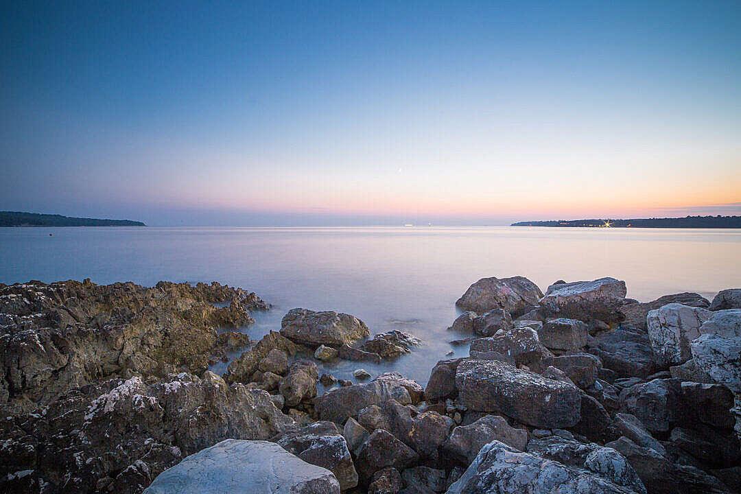 Download Seaside Rocks Sunset FREE Stock Photo