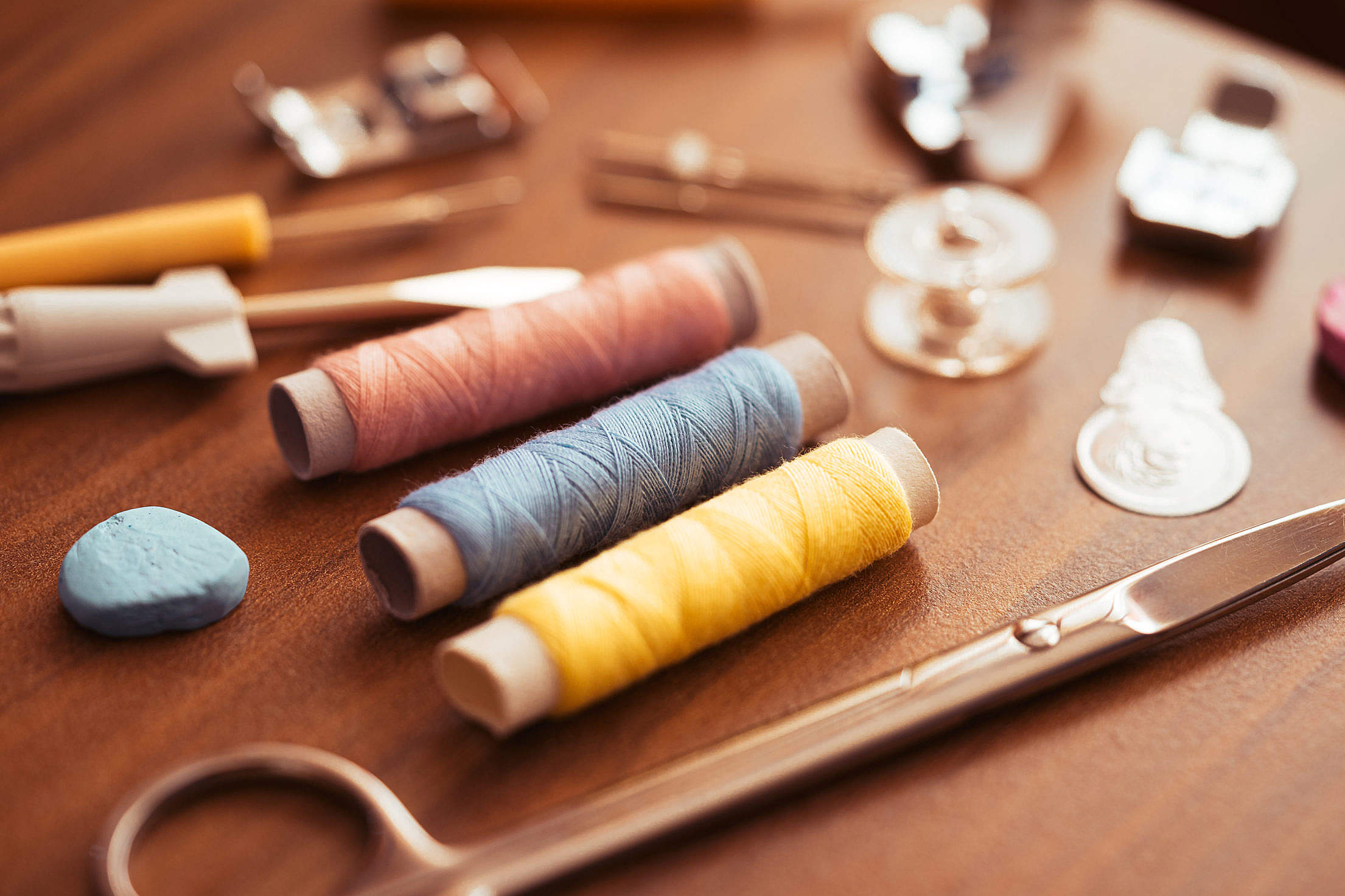 Set of Sewing Accessories Free Stock Photo