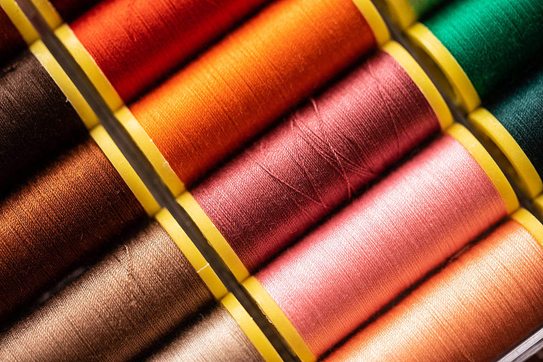 Download Sewing Threads FREE Stock Photo