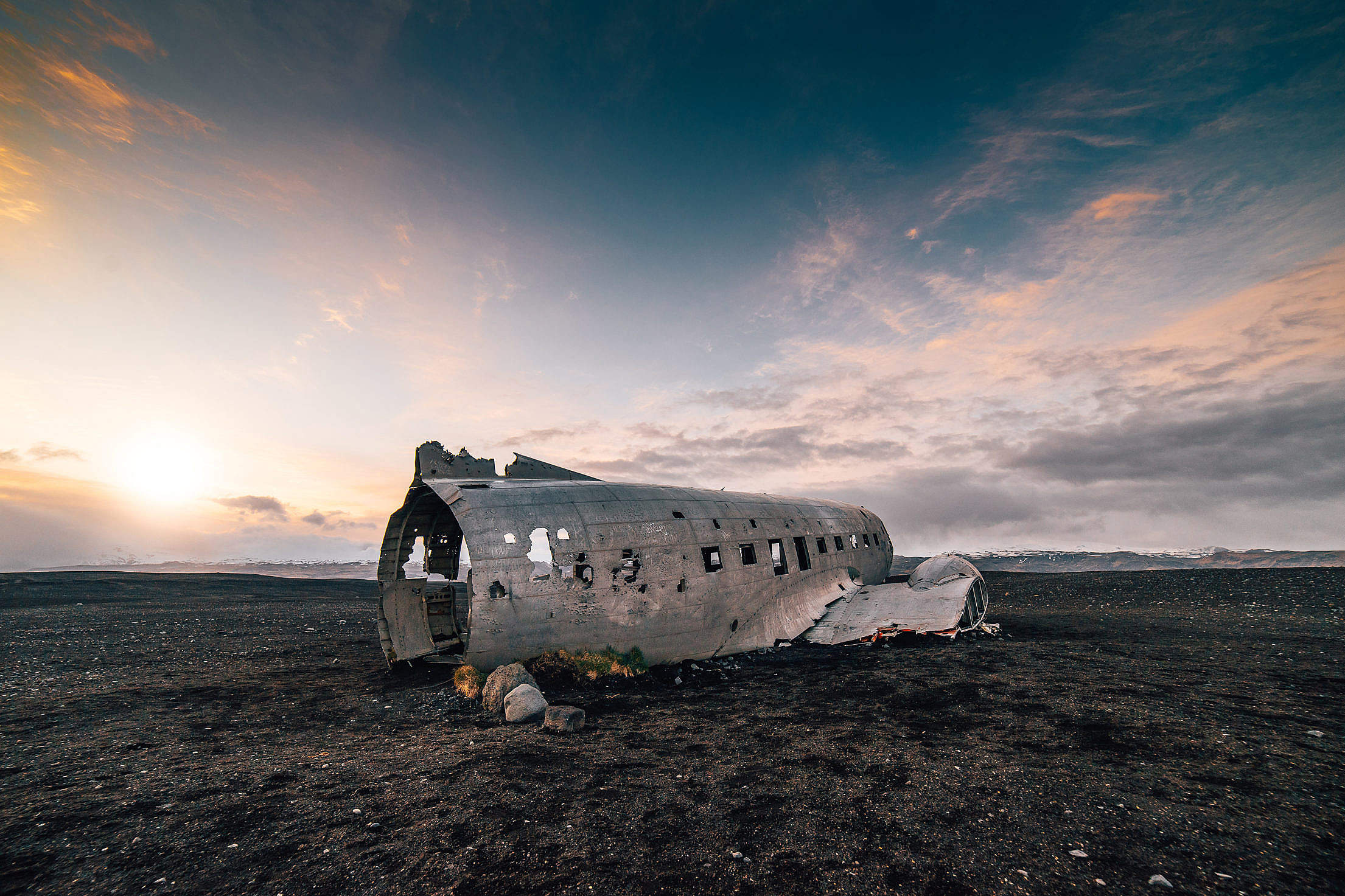 Shipwreck in Iceland Free Stock Photo