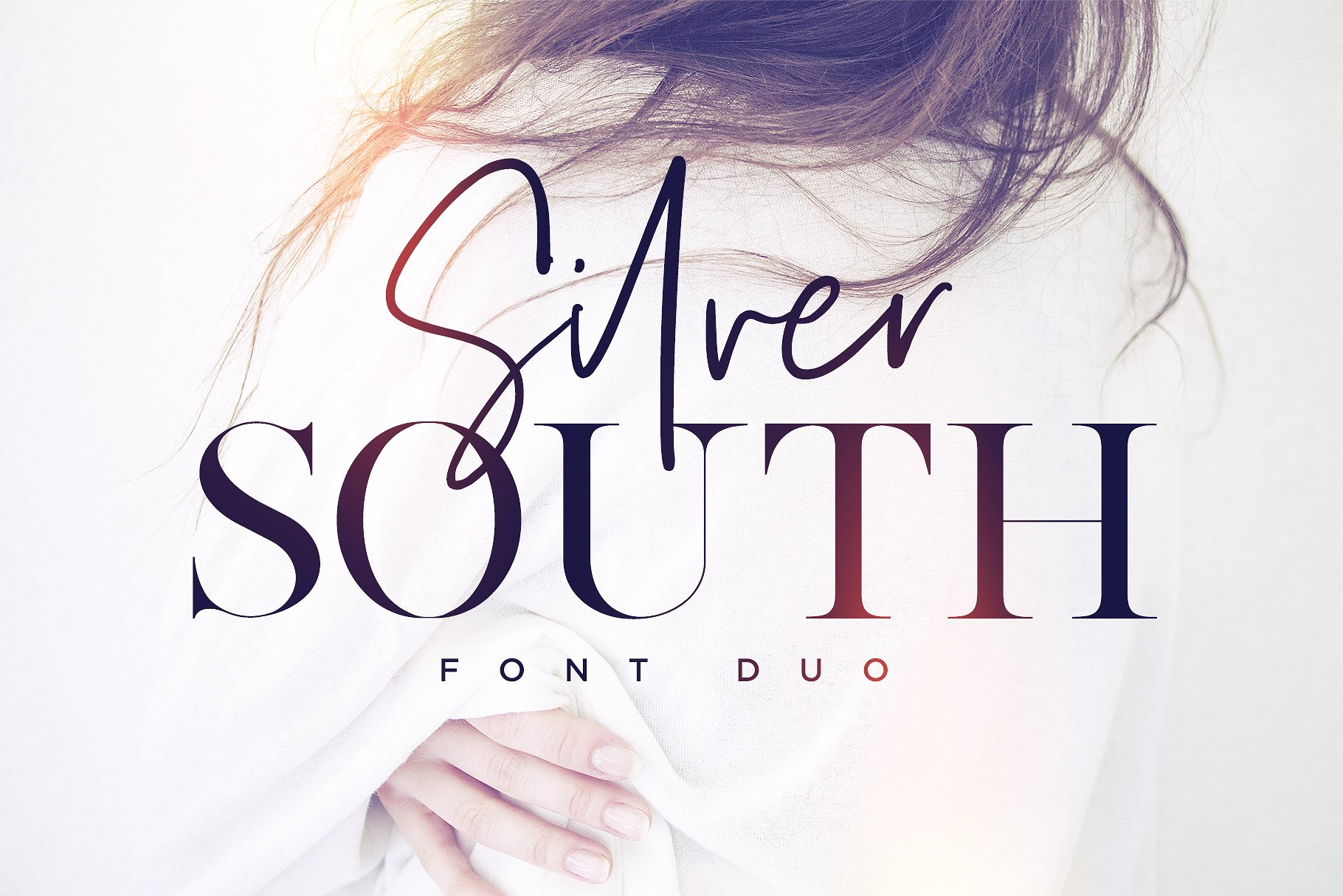 Silver South (pair of script and serif fonts) stock photo collection