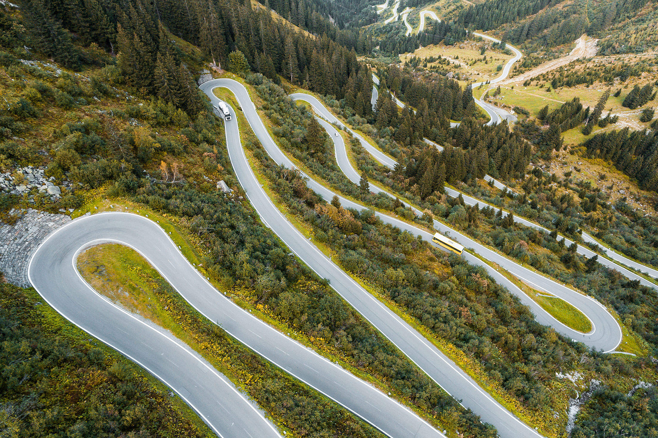 Silvretta Alpine Road in Austria Free Stock Photo