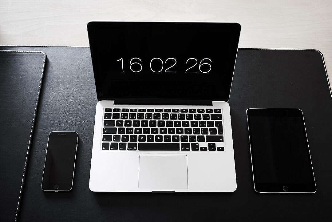Download Simple Minimalistic Home Office Workspace Setup FREE Stock Photo