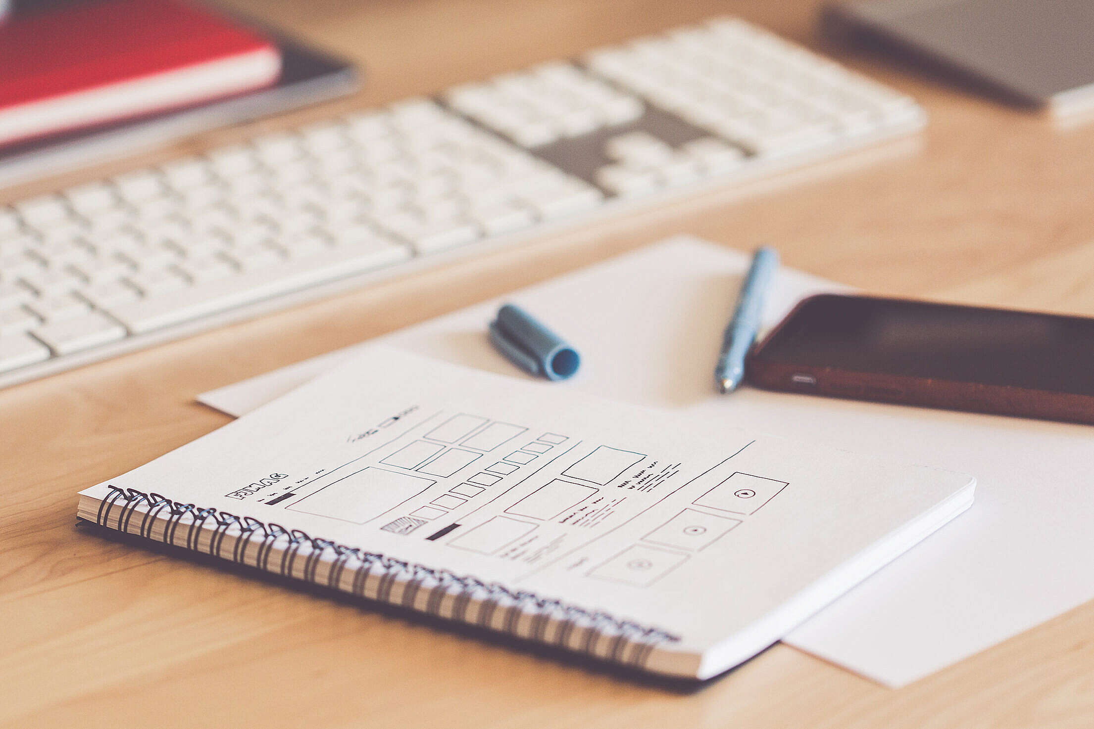 Sketching Website Layout Wireframes Free Stock Photo