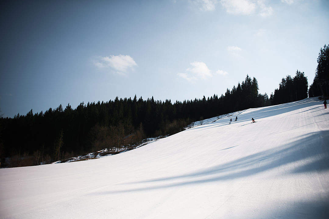 Download Ski Slope and Amazing Sky FREE Stock Photo