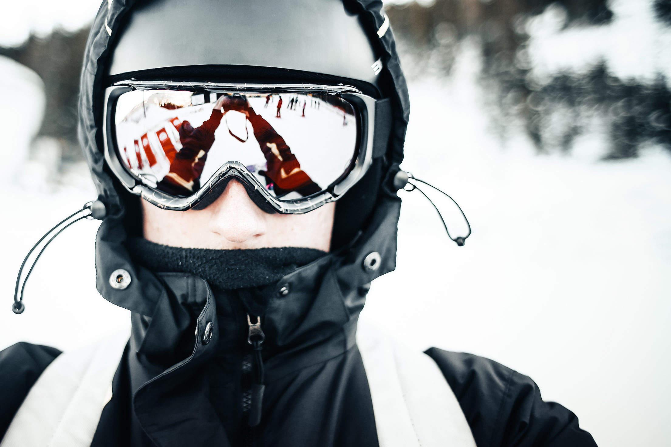Skier Portrait Free Stock Photo