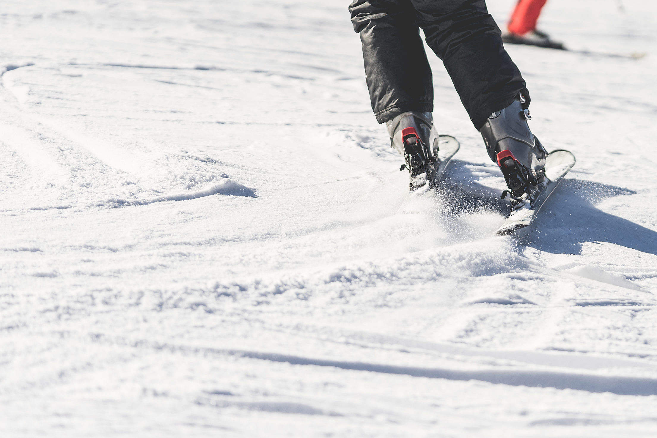 Skiing Snow And Ski Close Up Free Stock Photo