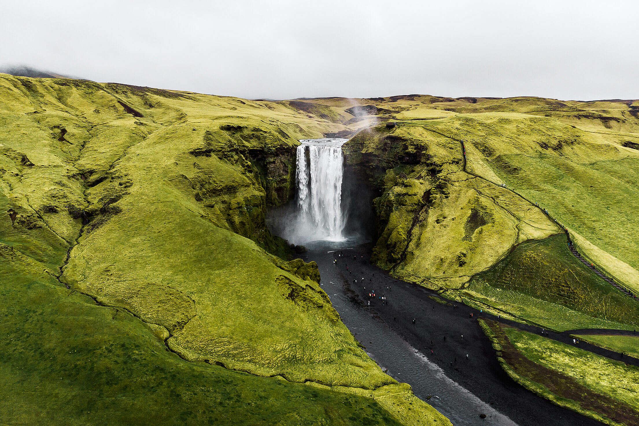Skógafoss Best Iceland Waterfalls Free Stock Photo