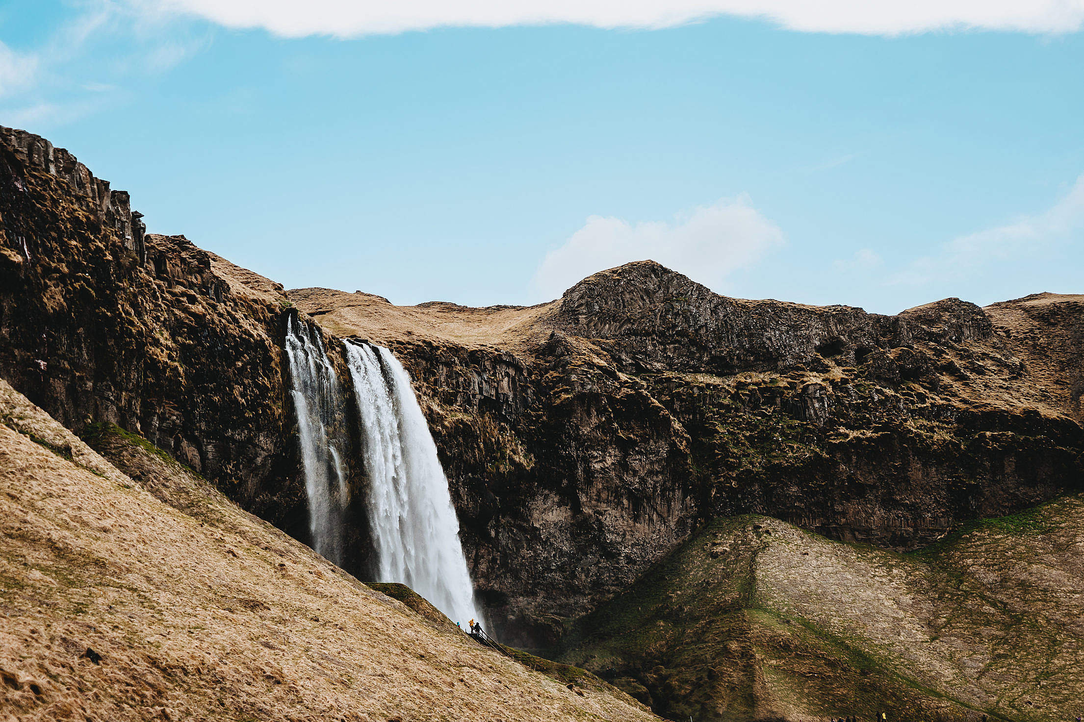 Skógafoss Waterfall in Iceland Free Stock Photo