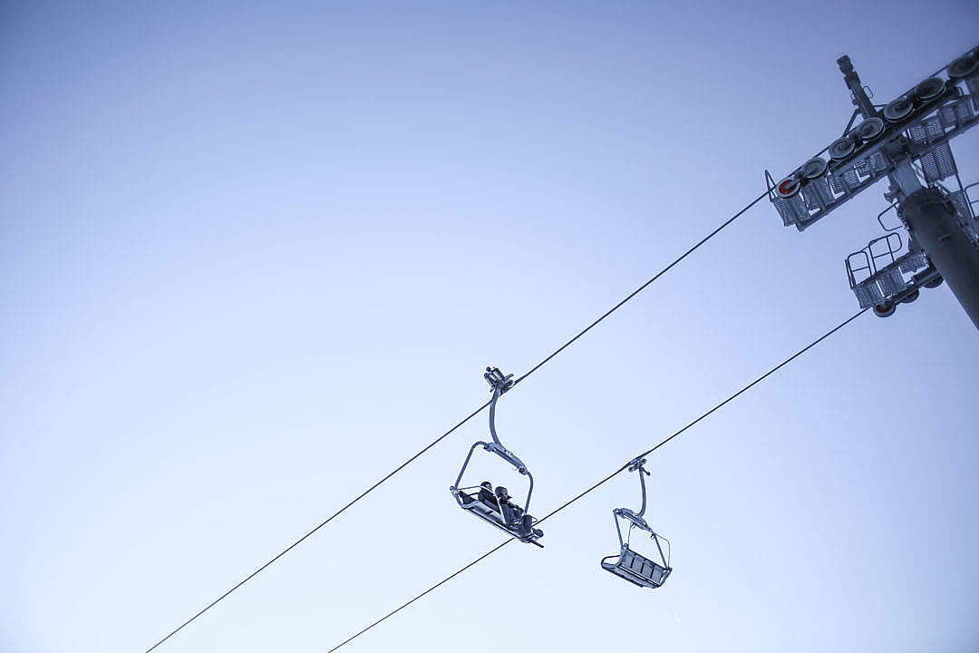 Download Sky and Ski Lift Minimal FREE Stock Photo