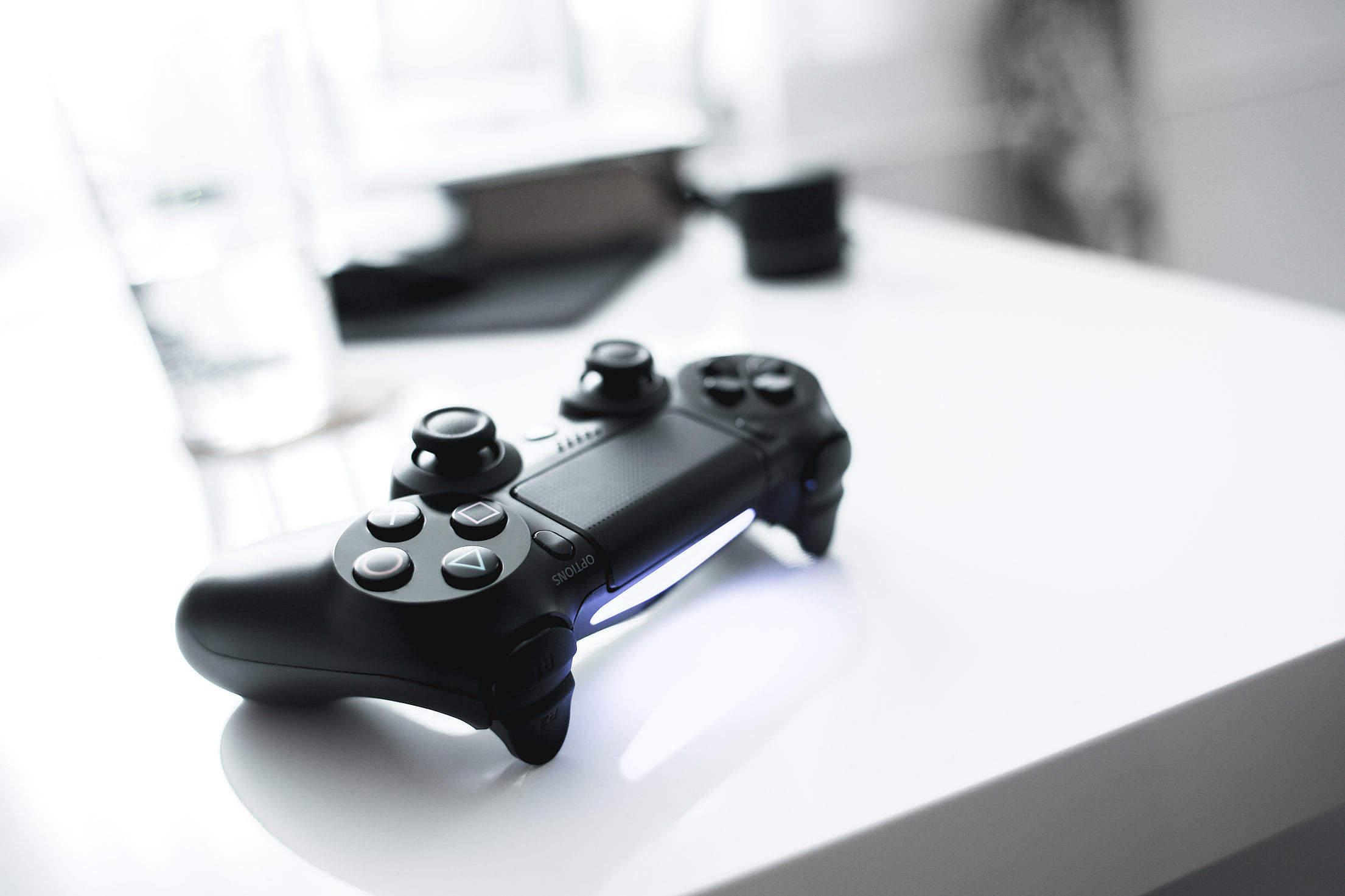 Sleek Playstation Controller Free Stock Photo