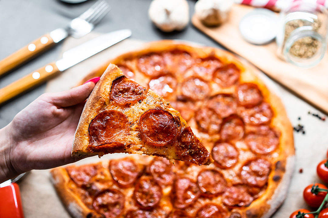 Download Slice of Pizza FREE Stock Photo