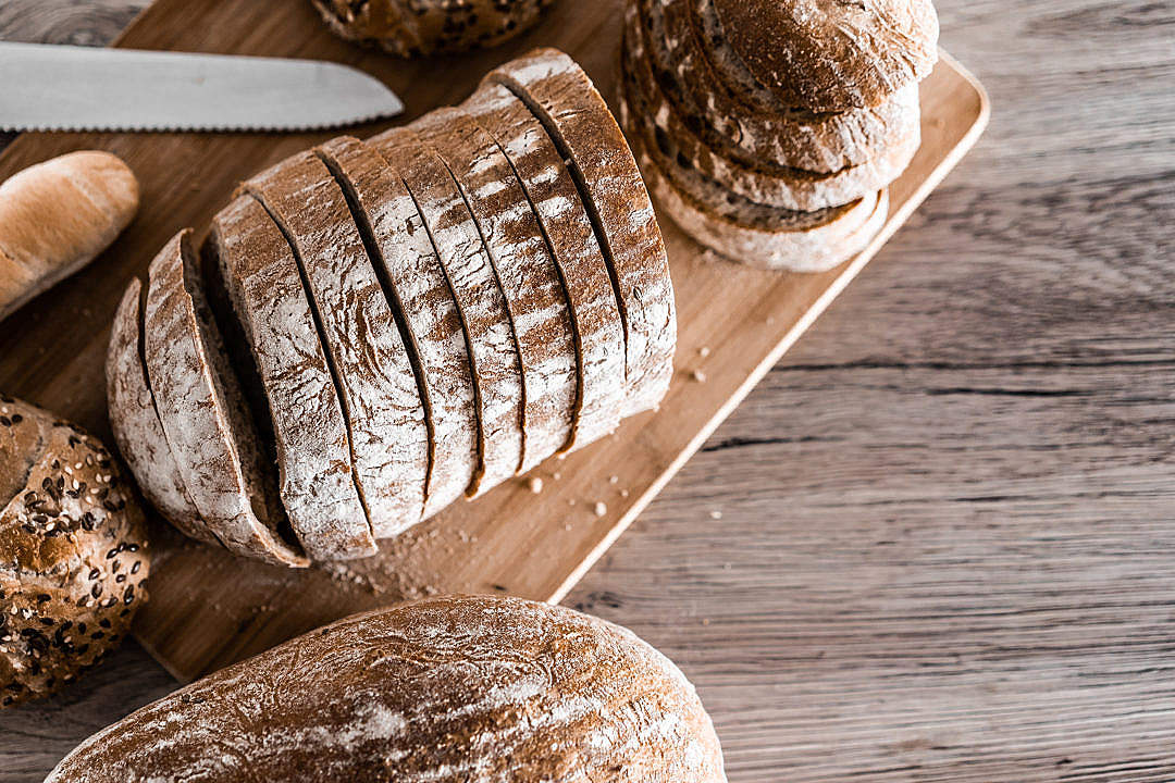 Download Sliced Bread with Space for Text FREE Stock Photo