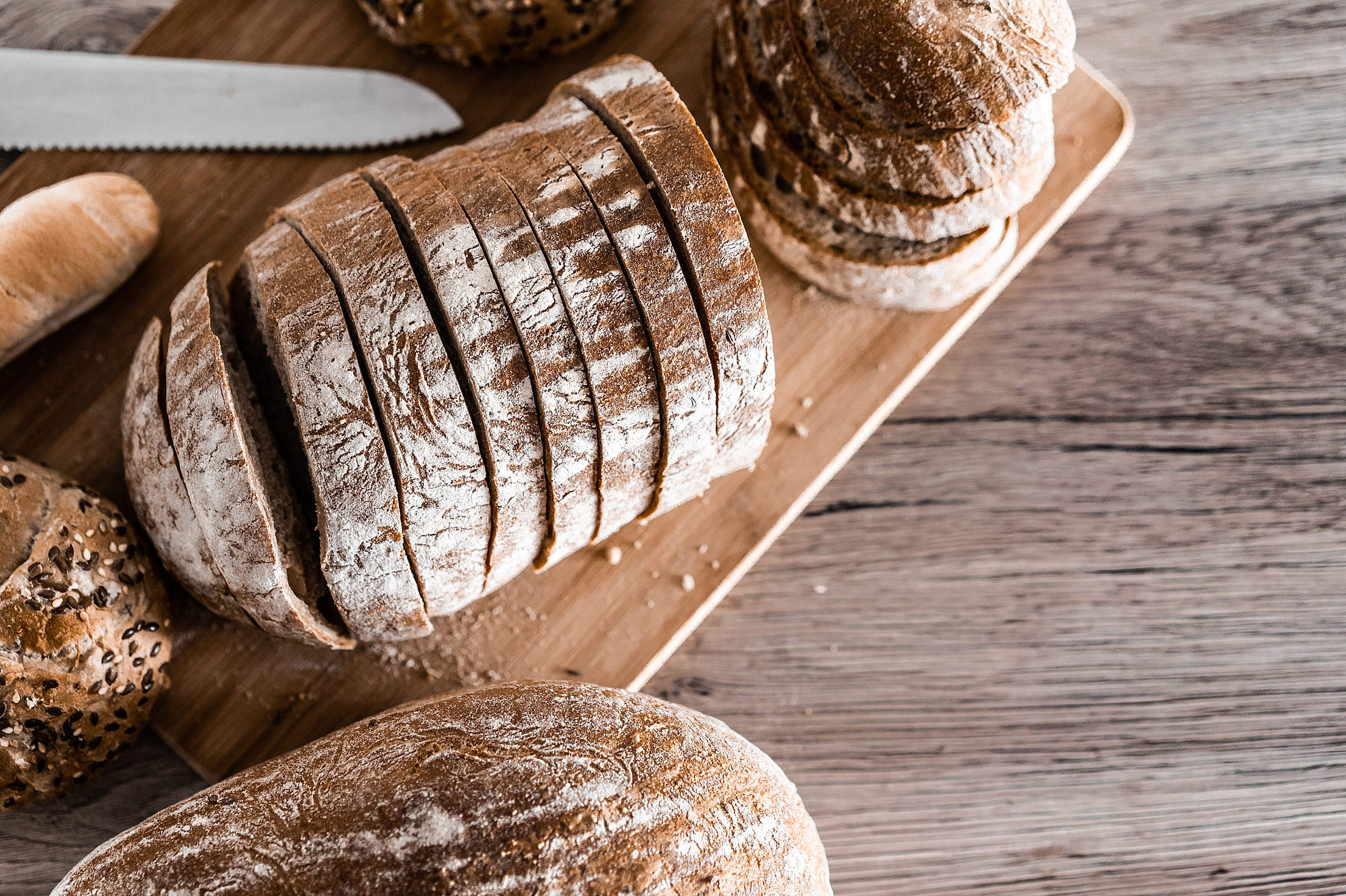 Sliced Bread with Space for Text Free Stock Photo