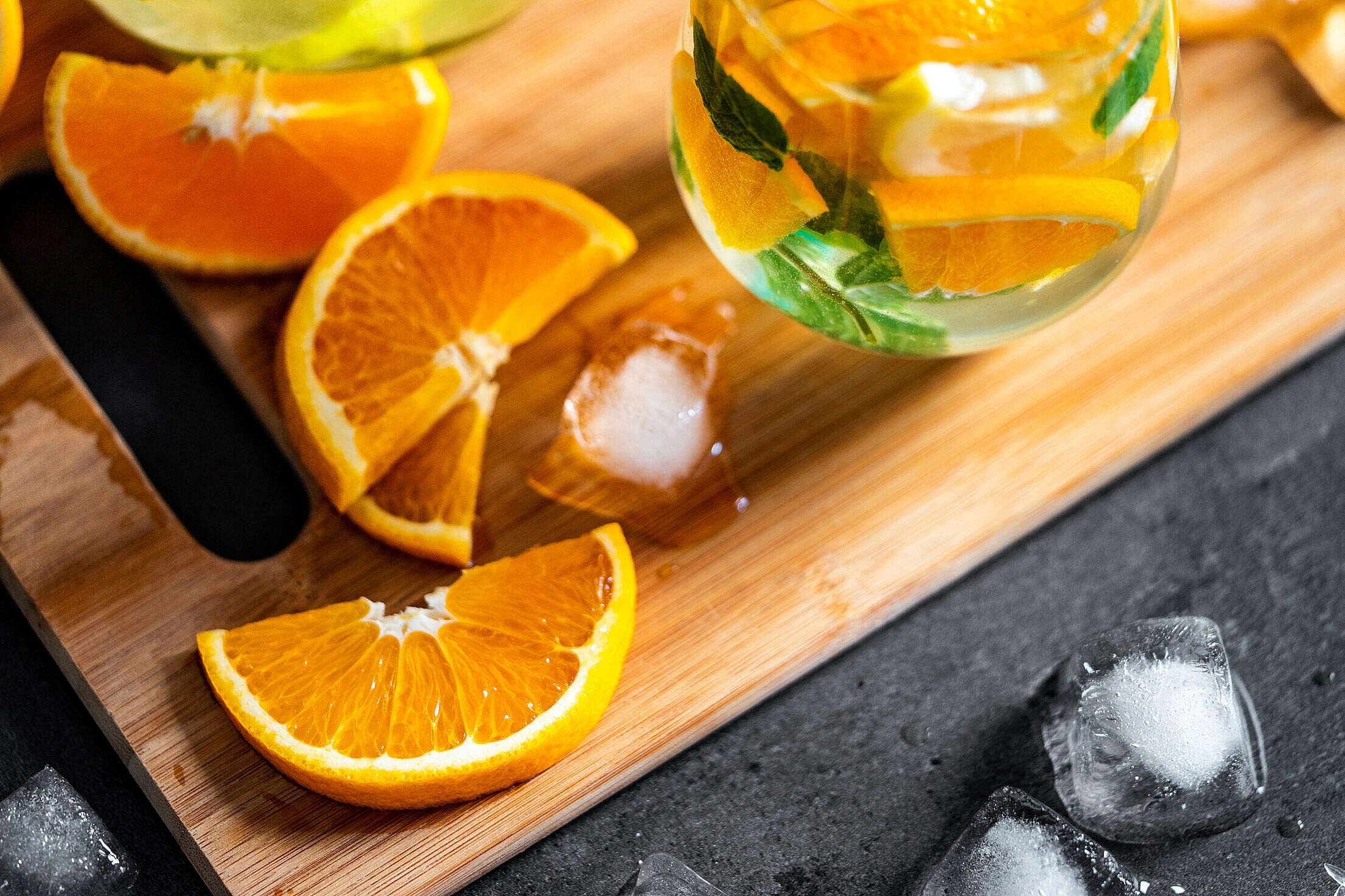 Sliced Orange for a Summer Drink Free Stock Photo