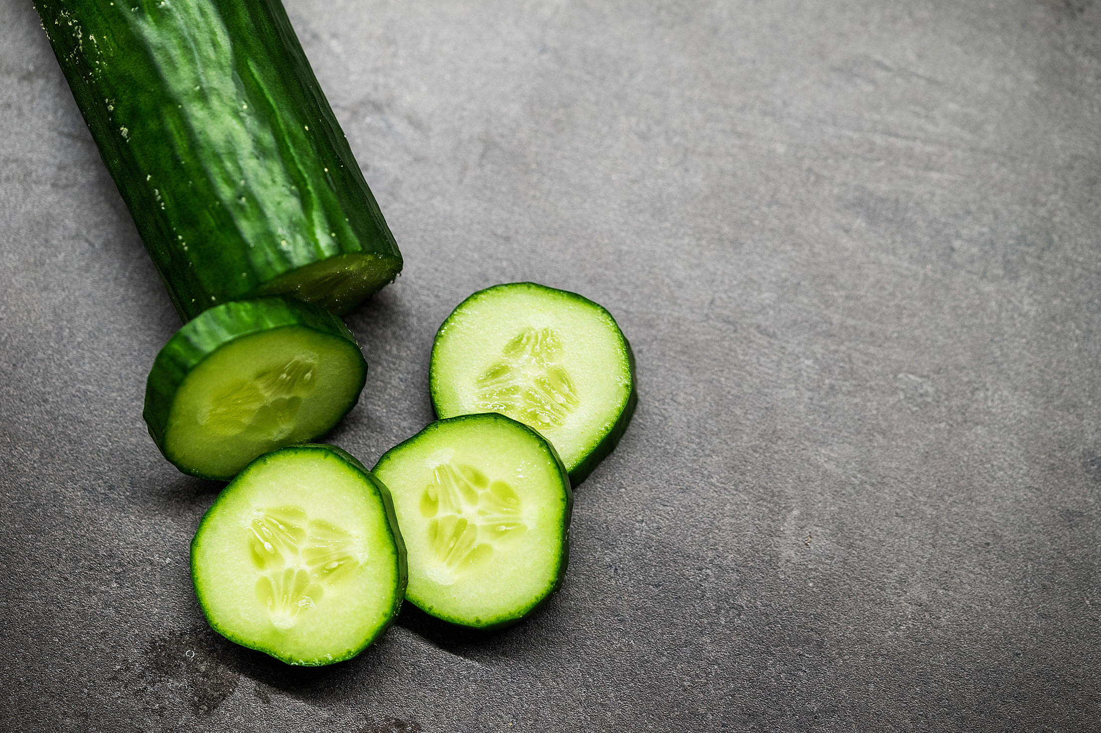 Slices of Cucumber Free Stock Photo