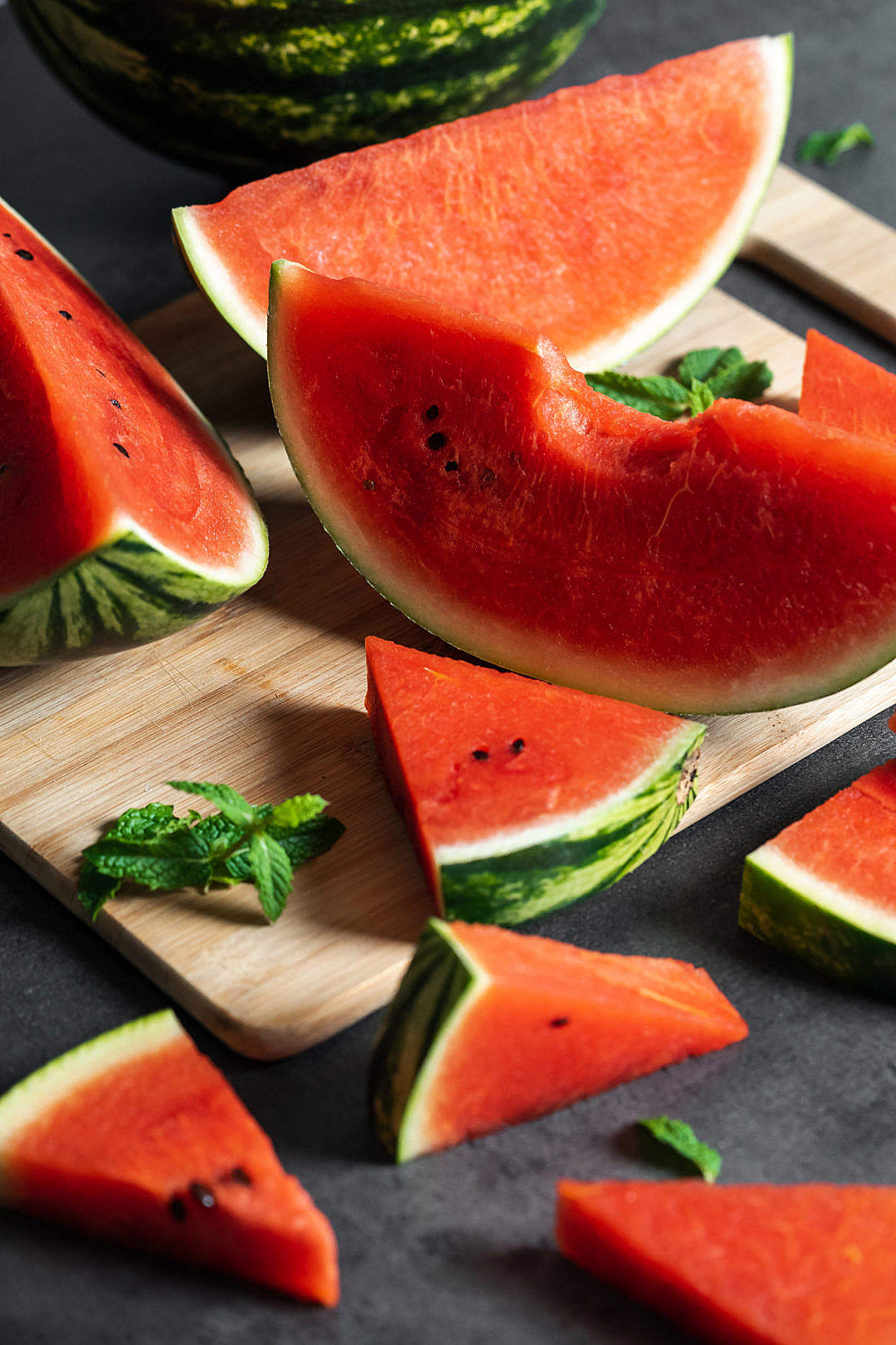 Download Slices of Fresh Watermelon FREE Stock Photo
