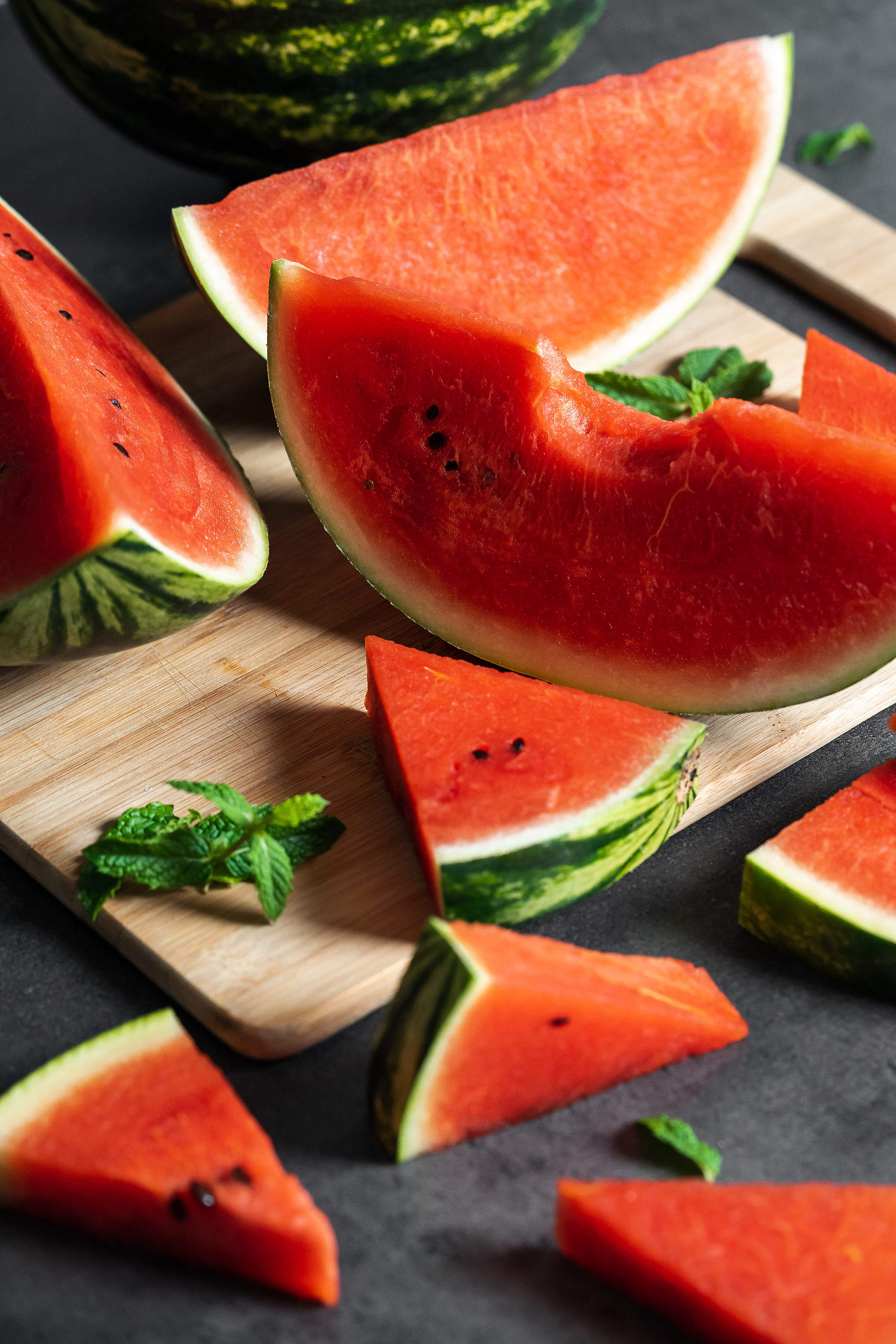 Slices of Fresh Watermelon Free Stock Photo
