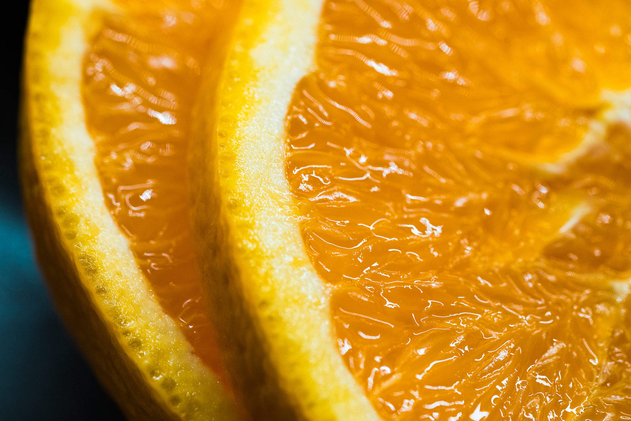Slices of Orange Free Stock Photo