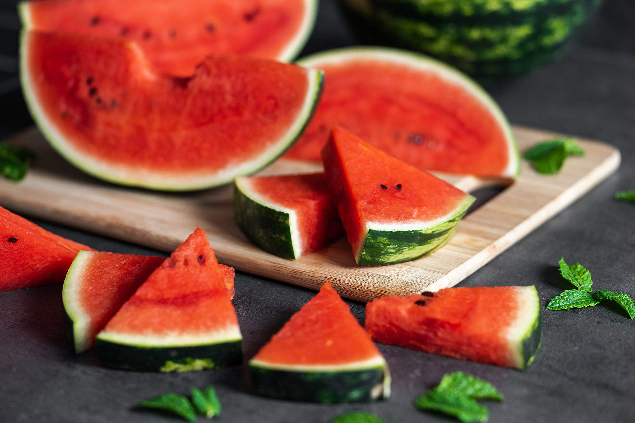 Slices of Watermelon Free Stock Photo