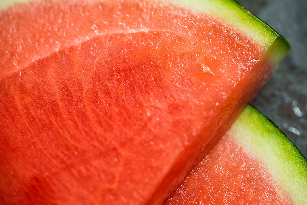 Download Slices of Watermelon Close Up FREE Stock Photo