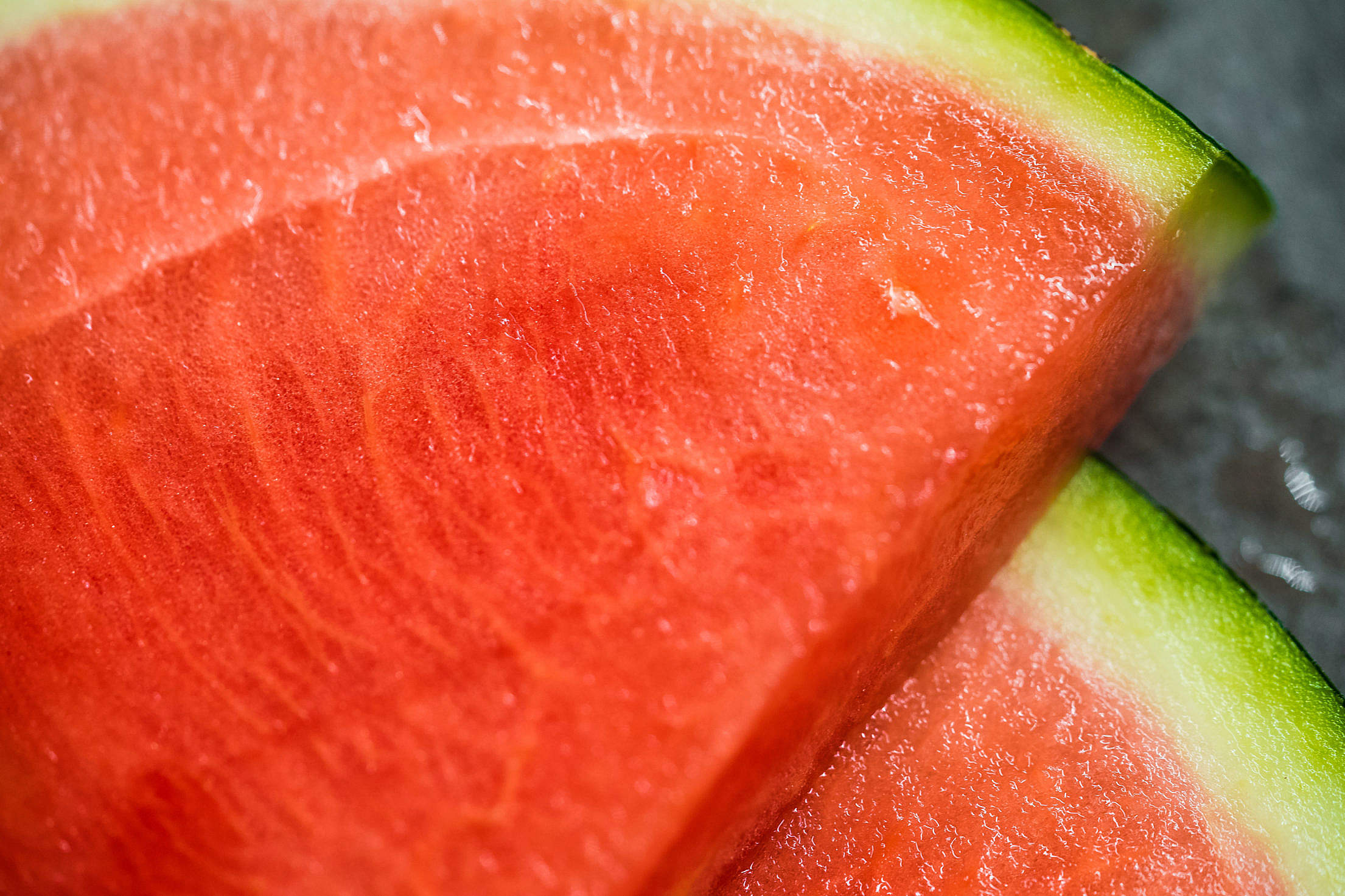 Slices of Watermelon Close Up Free Stock Photo