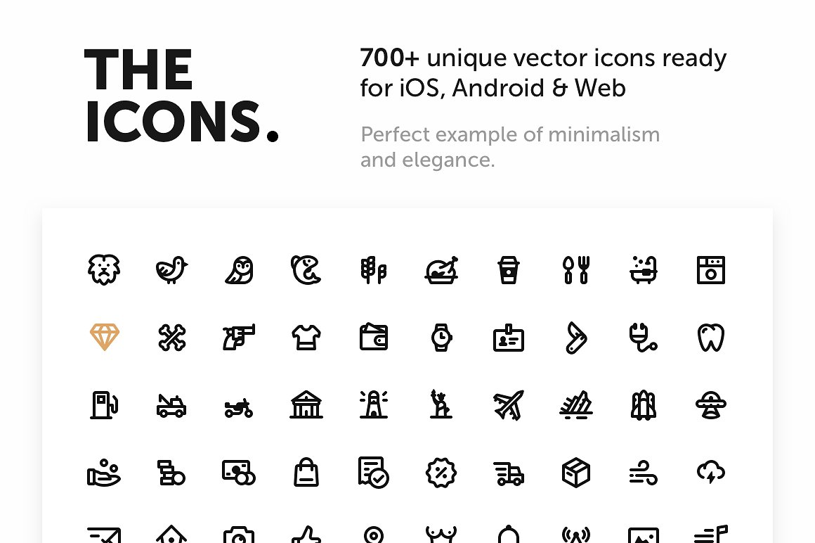 700+ Premium Vector Icons stock photo collection