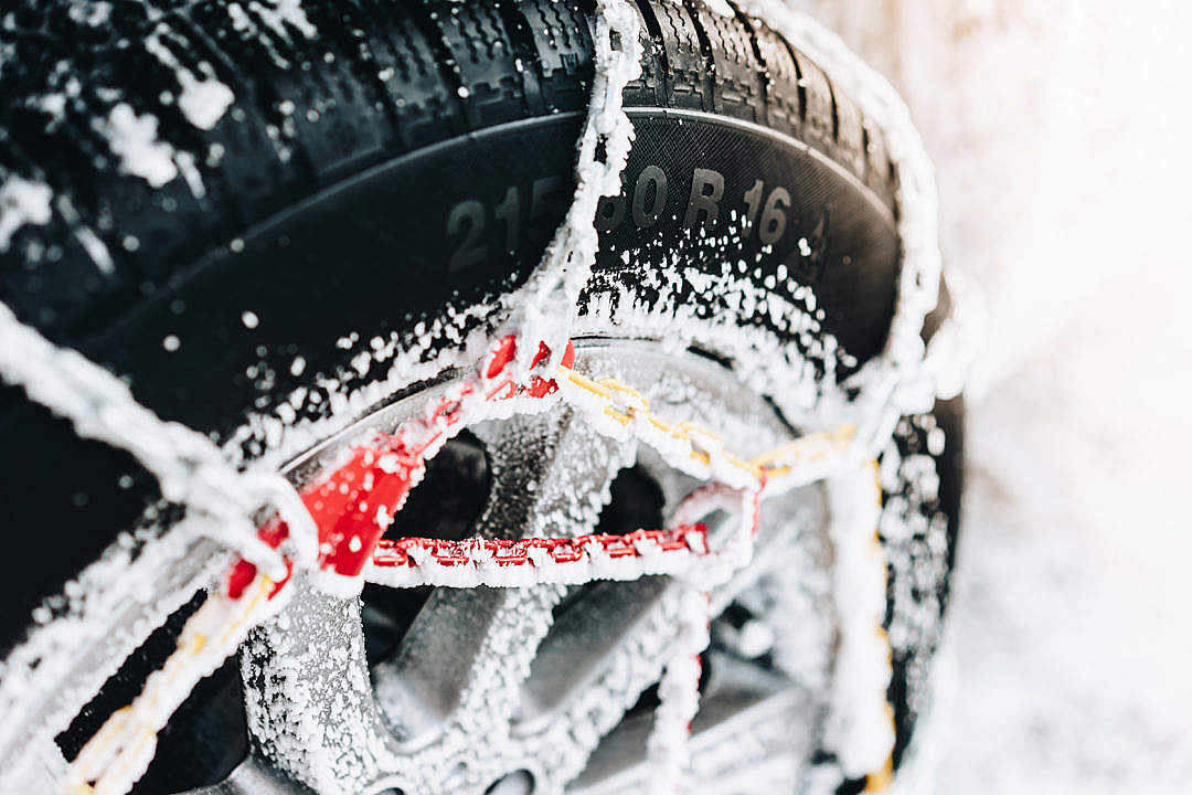 Download Snow Chains for Car FREE Stock Photo