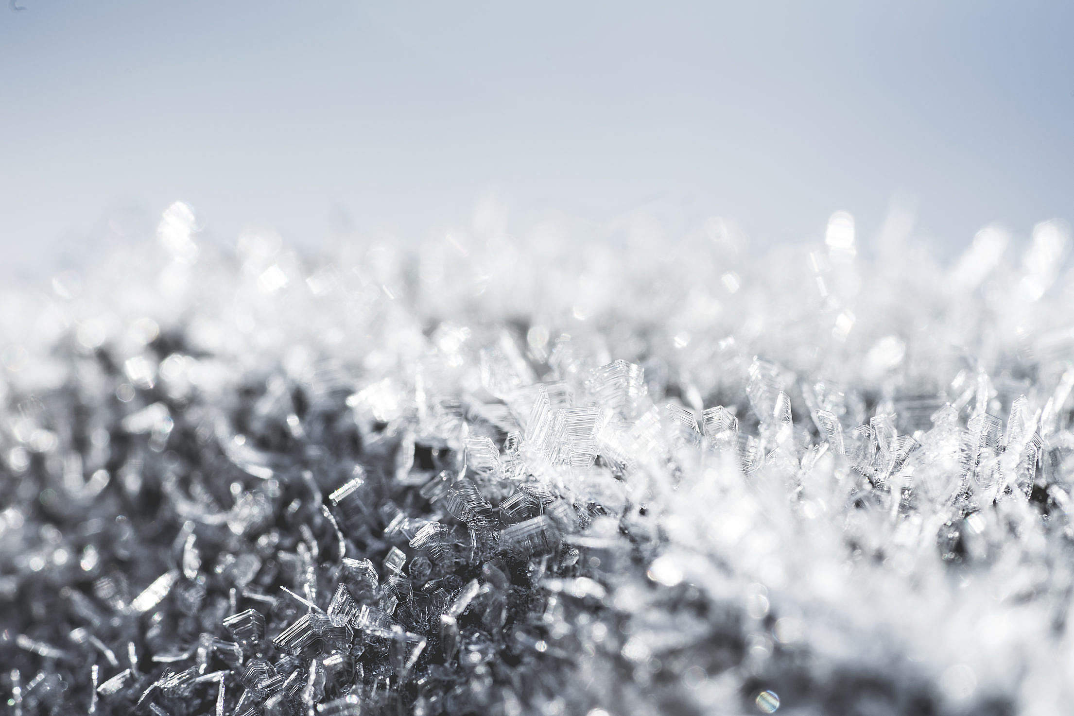 Snowflakes & Hoarfrost Macro Close Up Free Stock Photo