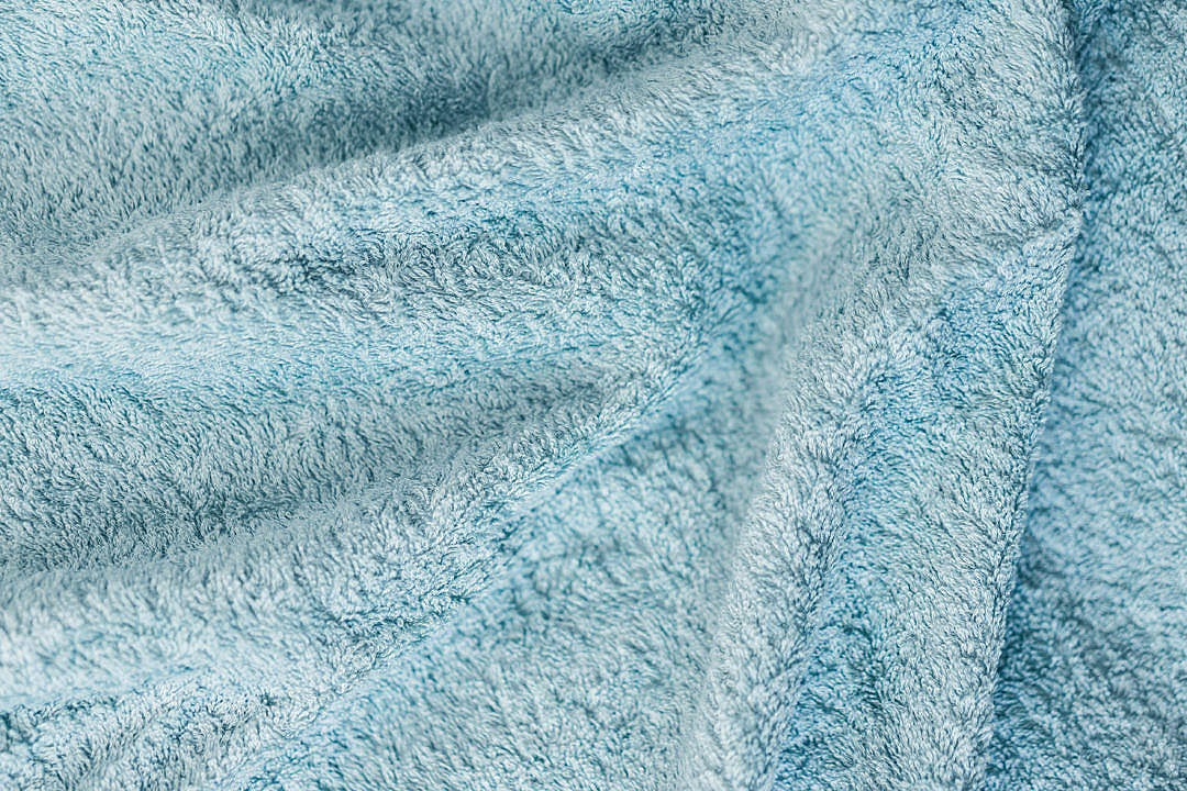 Download Soft Cotton Blue Towel Close Up Background FREE Stock Photo