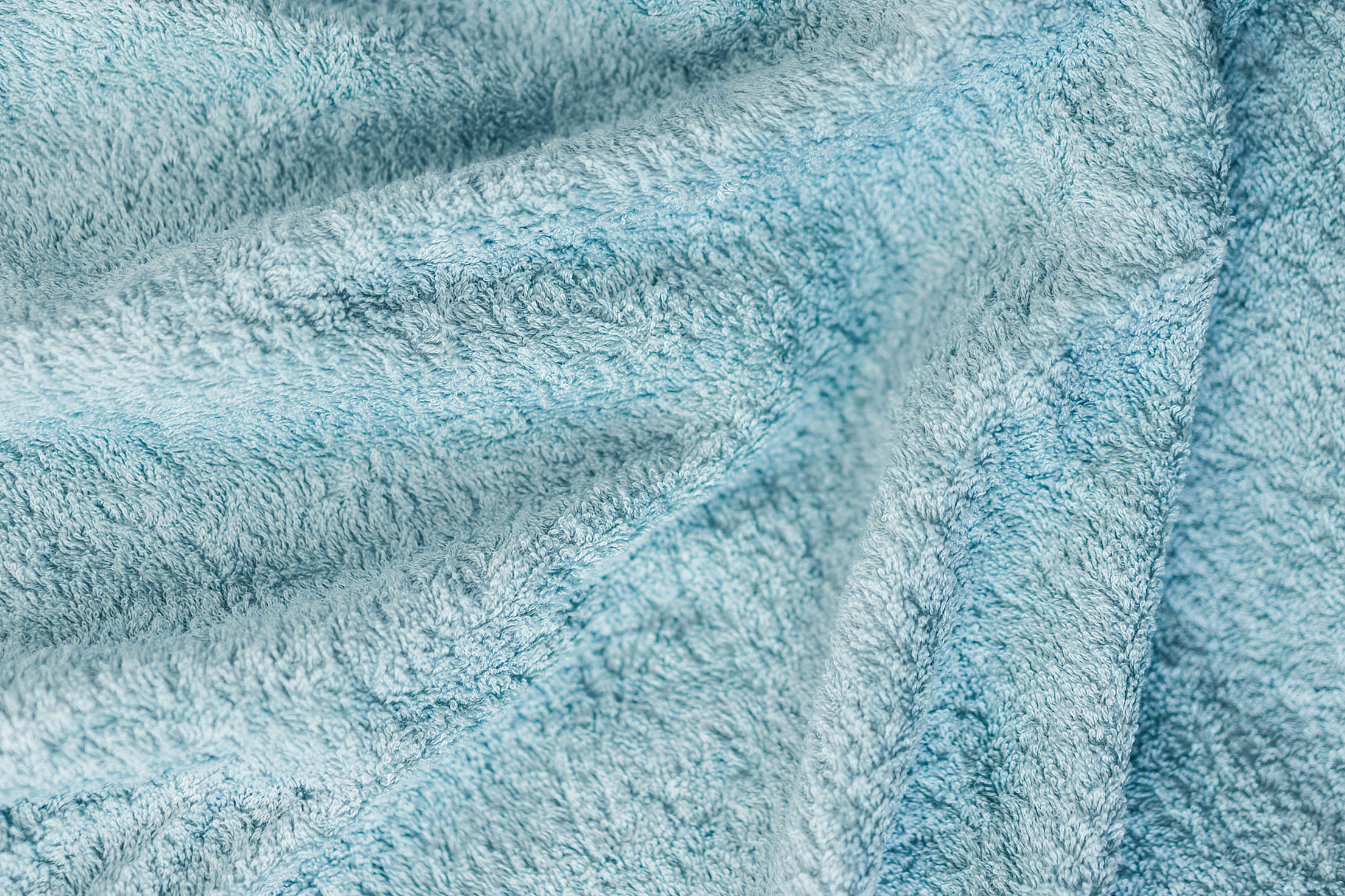Soft Cotton Blue Towel Close Up Background Free Stock Photo