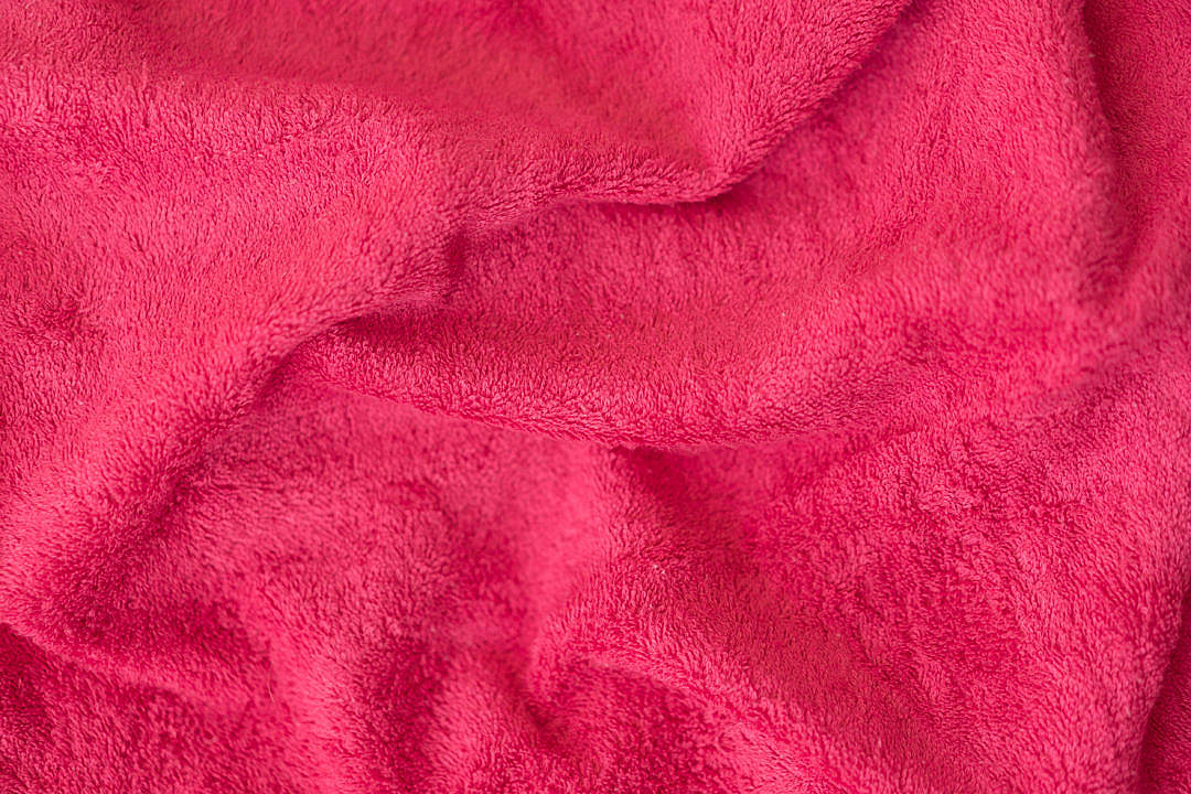 Download Soft Cotton Red Pink Towel Close Up Background FREE Stock Photo