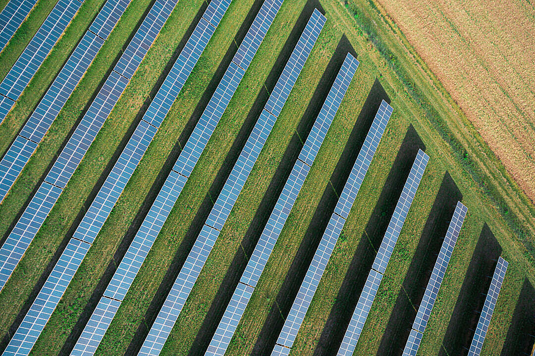 Download Solar Power Plant from Above FREE Stock Photo