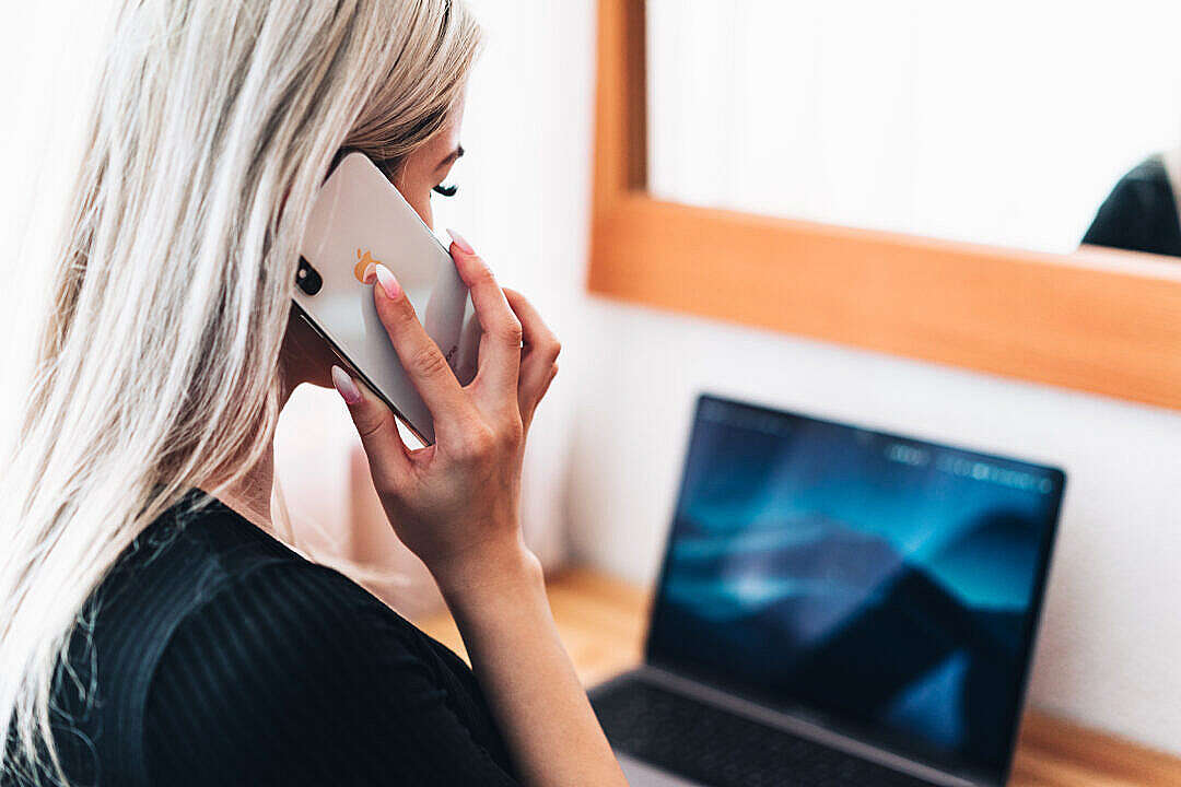 Download Solopreneur Call Support for Her Small Business FREE Stock Photo