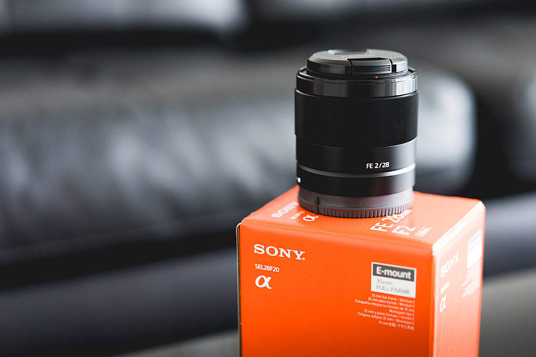 Download Sony Lens FE 28mm f2 Unboxed SEL28F2 FREE Stock Photo