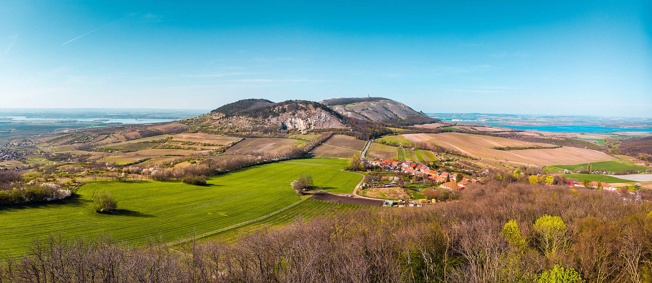 South Moravia Pálava Hills Panorama Free Stock Photo